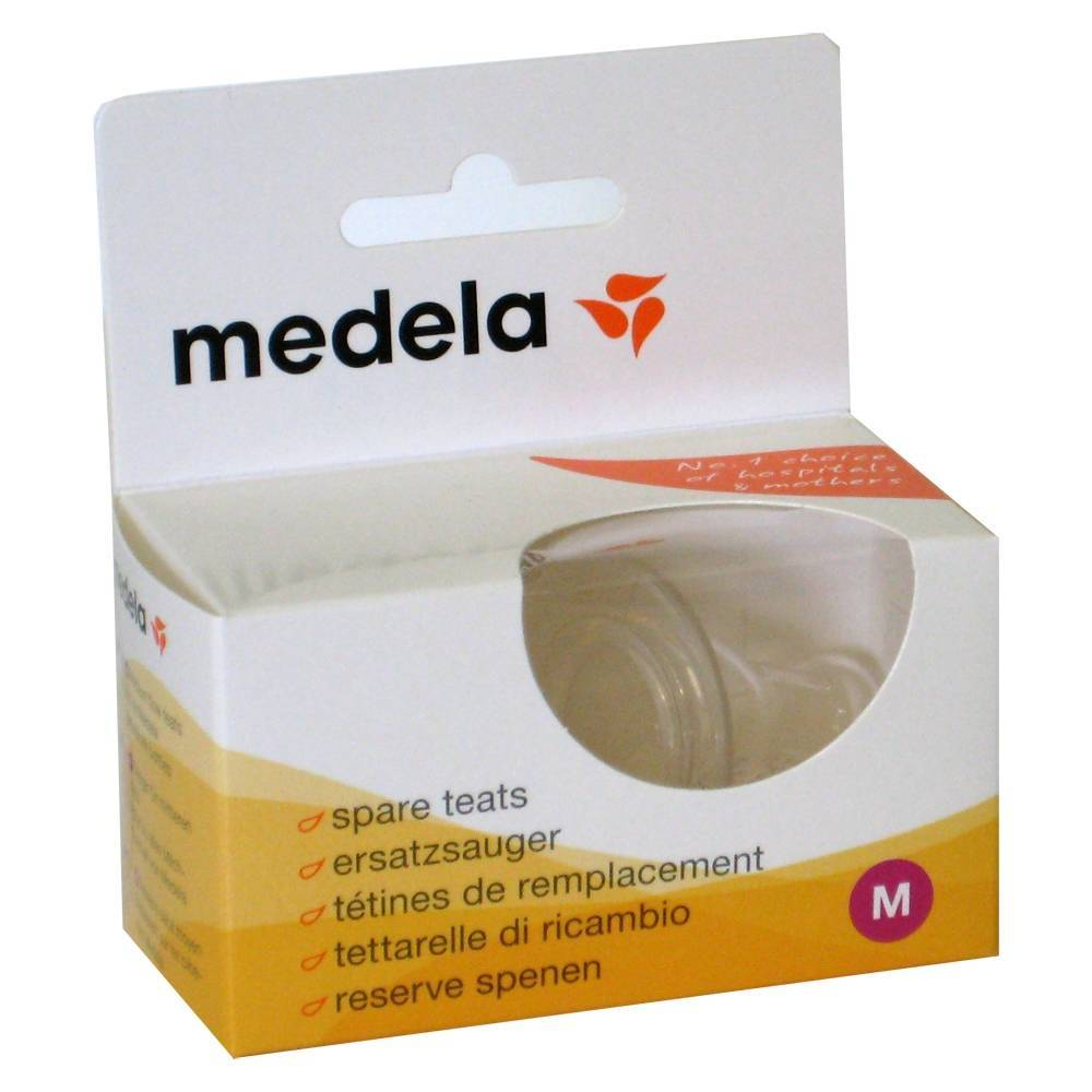 Medela Benelux Medela Teat Silicon Medium Flow 2 7612367014052