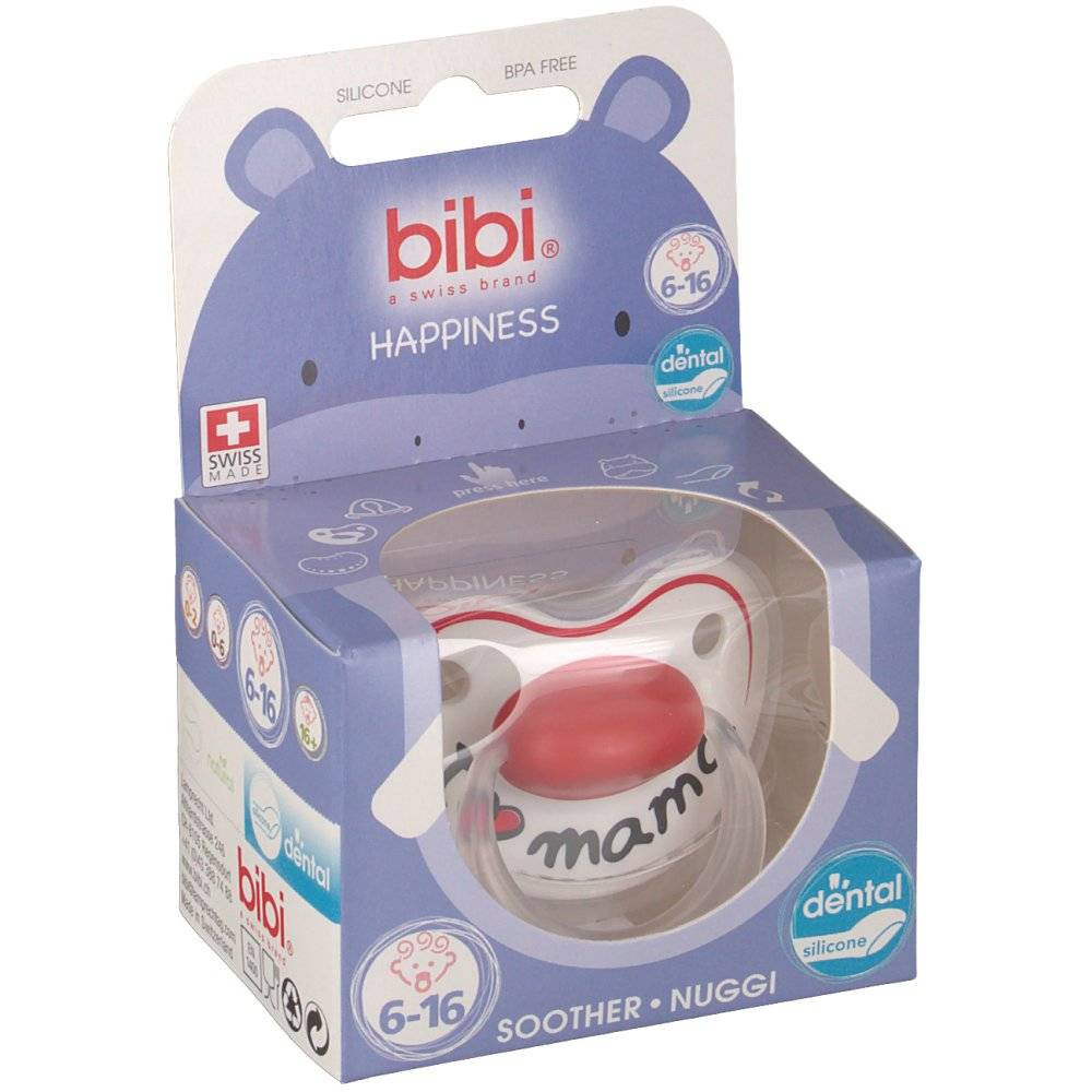 Omega Well-Being Bibi Pacifier I Love Mama 6-16m 2015 1 7610472846360
