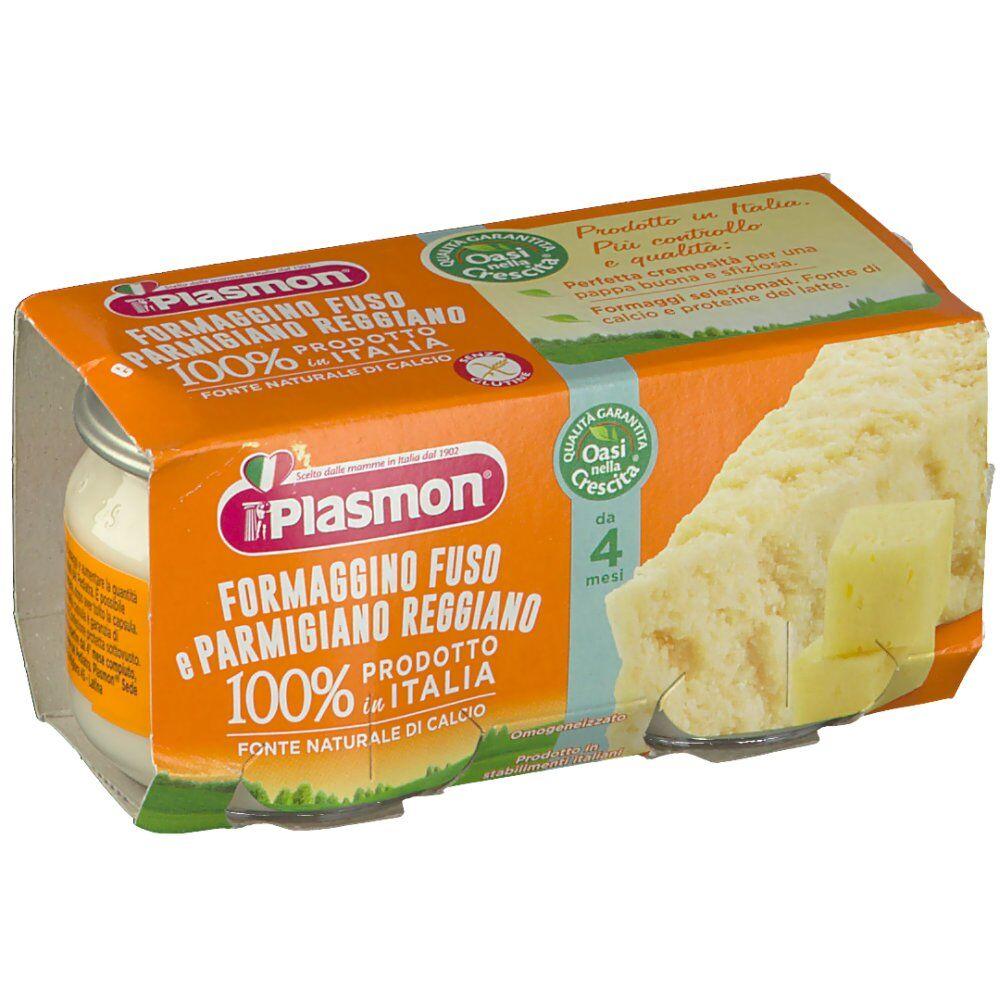 Plasmon (Heinz Italia SpA) Plasmon® Omogeneizzato Formaggino fuso e Parmigiano Reggiano 2X80 8001040095744