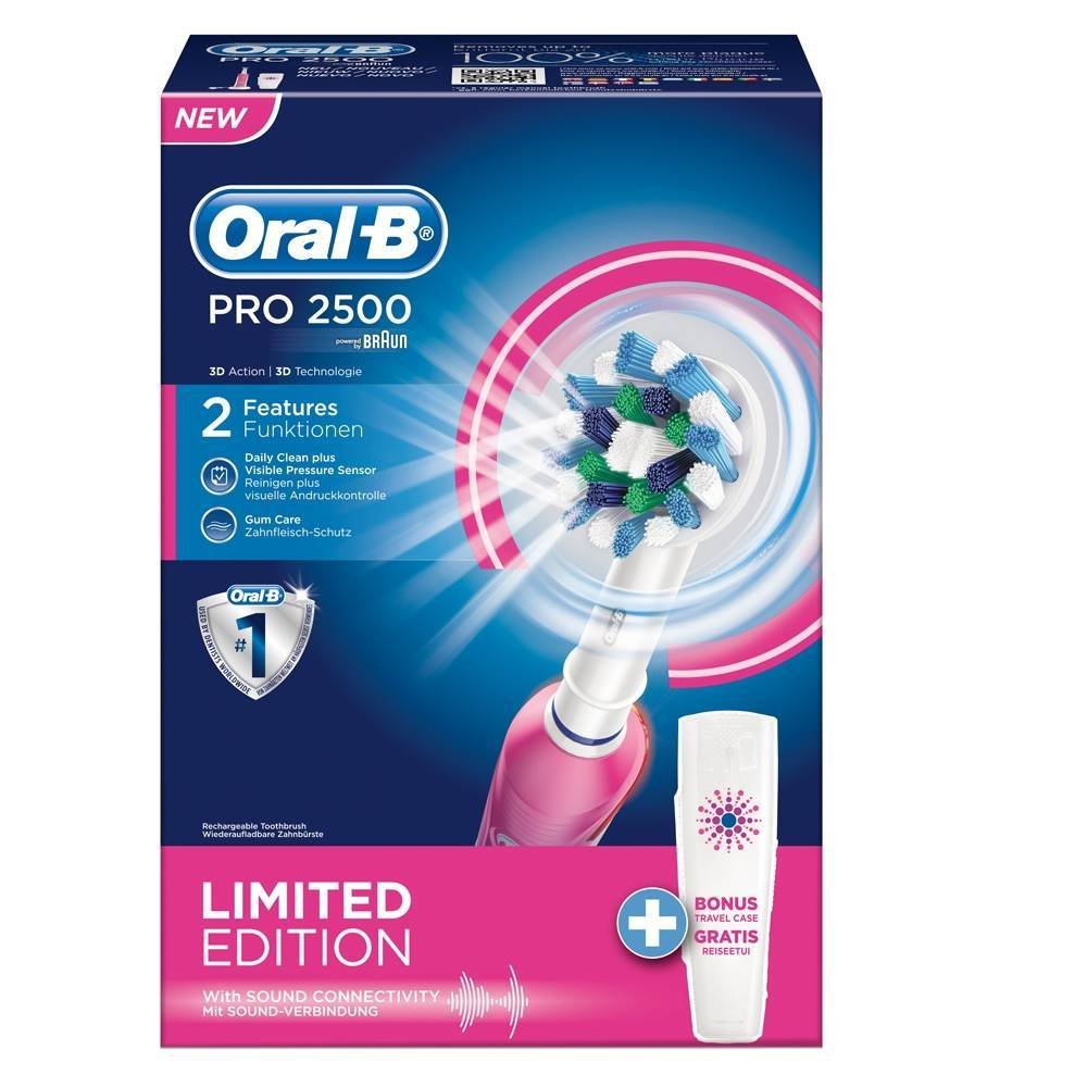 The Procter & Gamble Company Oral B Professional Care 2500 Cross Action Limited Edition Spazzolino Rosa 1 pz