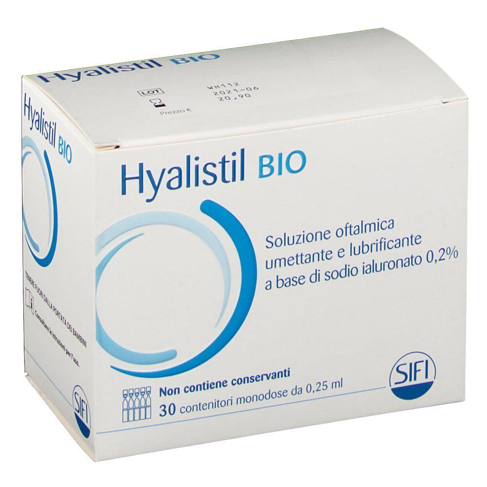 Sifi SpA Hyalistil BIO Soluzione oftalmica umettante e lubrificante 30X0,25