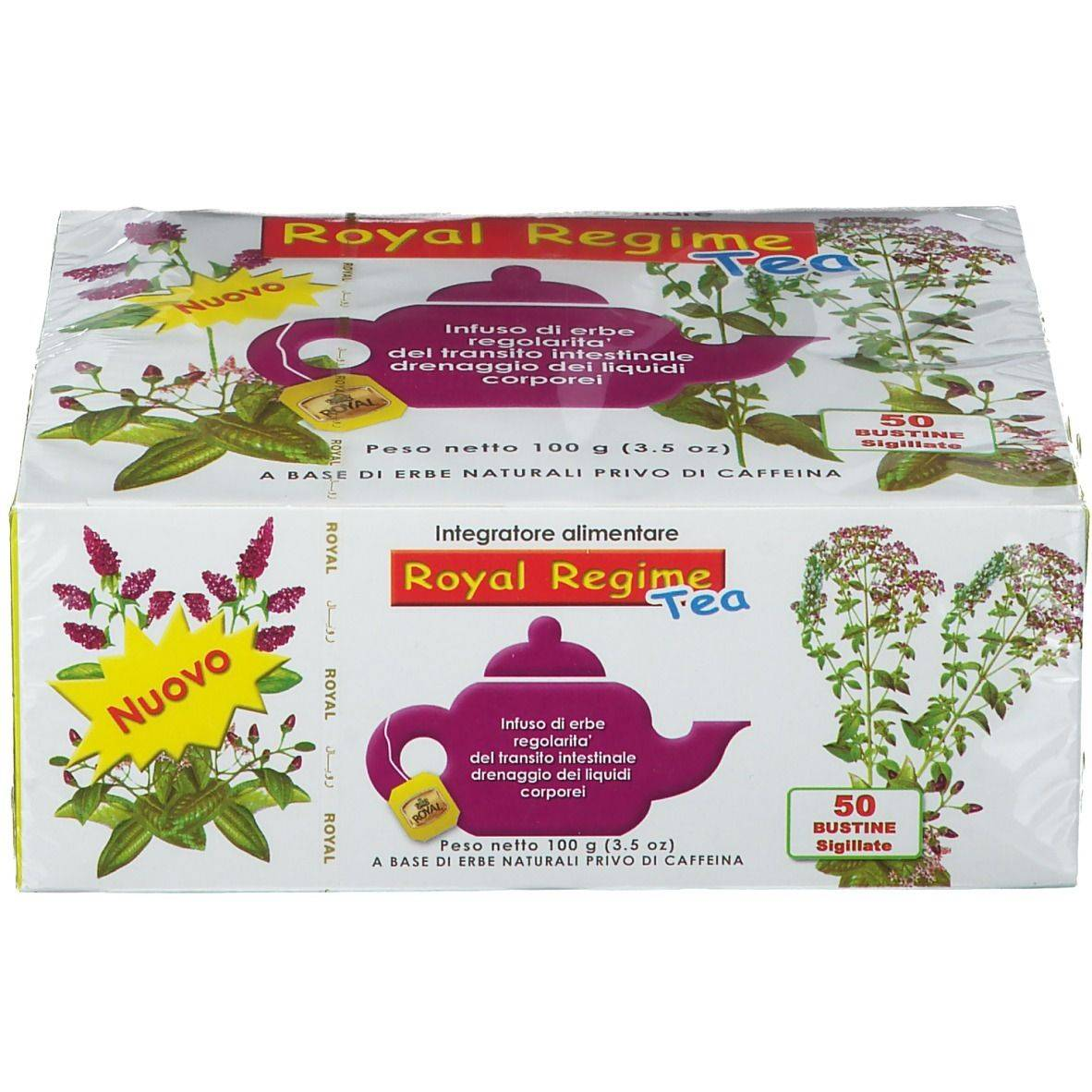 Flora Import Sas Royal Regime Tea 50 pz Sacchetto filtro