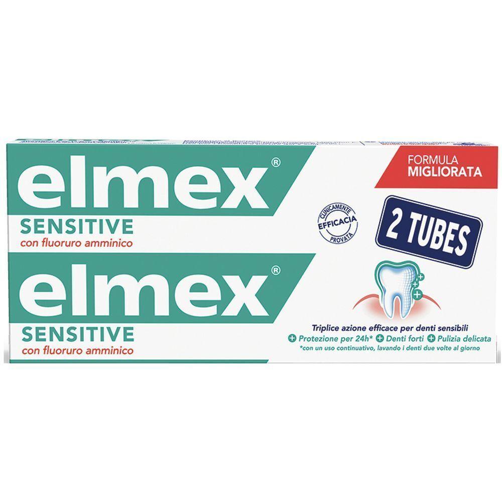 Elmex Dentifricio Sensitive Denti Sensibili 2x75 ml 150 ml Crema dent