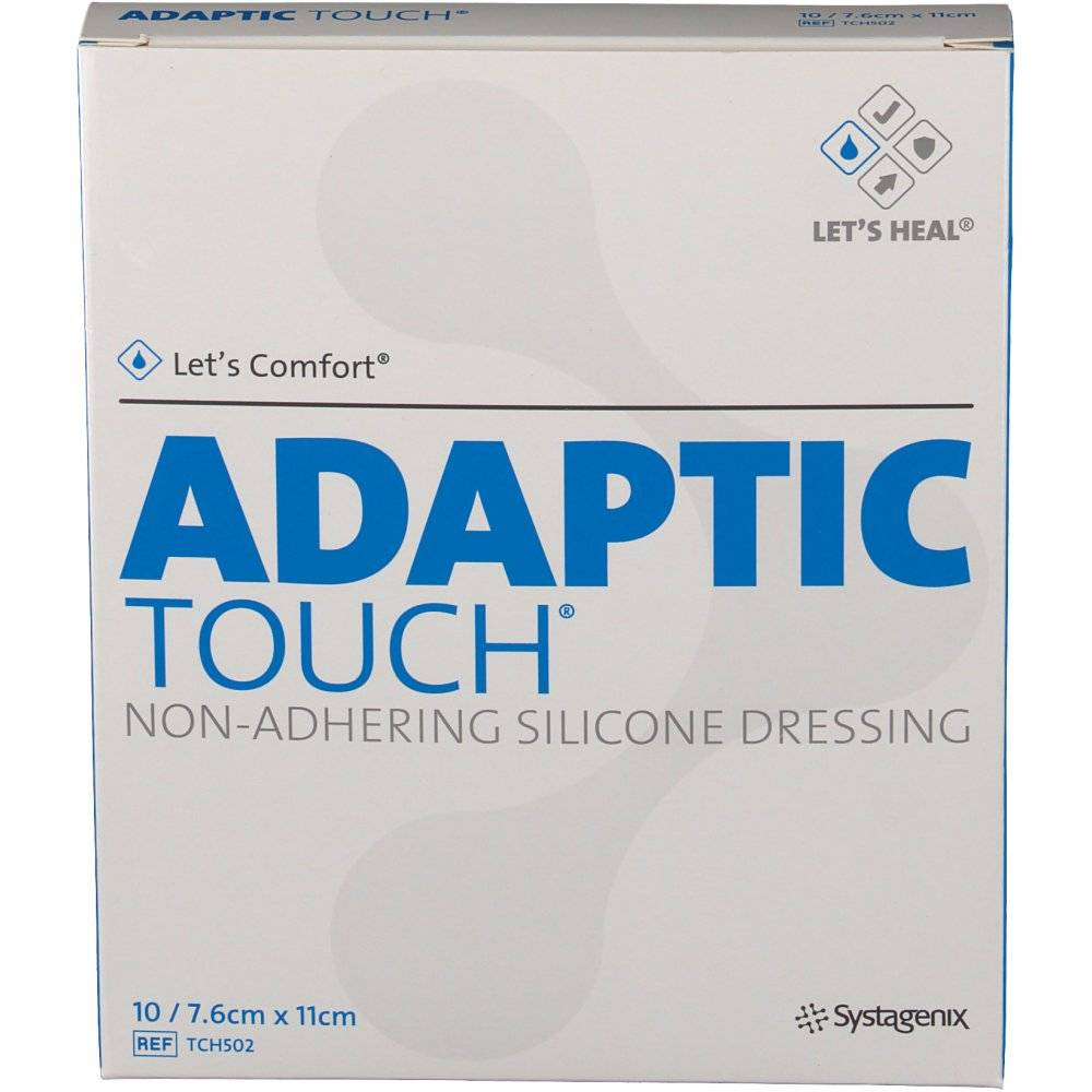 Hospithera Adaptic Touch Silicone 7,6 cm x 11 cm 10 17200331101816