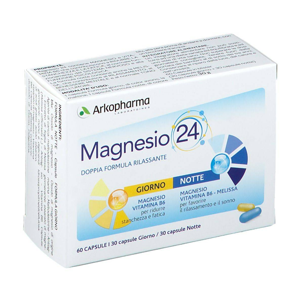 arkofarm srl magnesio 24® 60 pz capsule