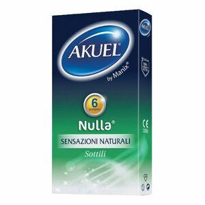 Akuel ® by Manix Nulla® Sensazione Naturale 6 pz Preservativo