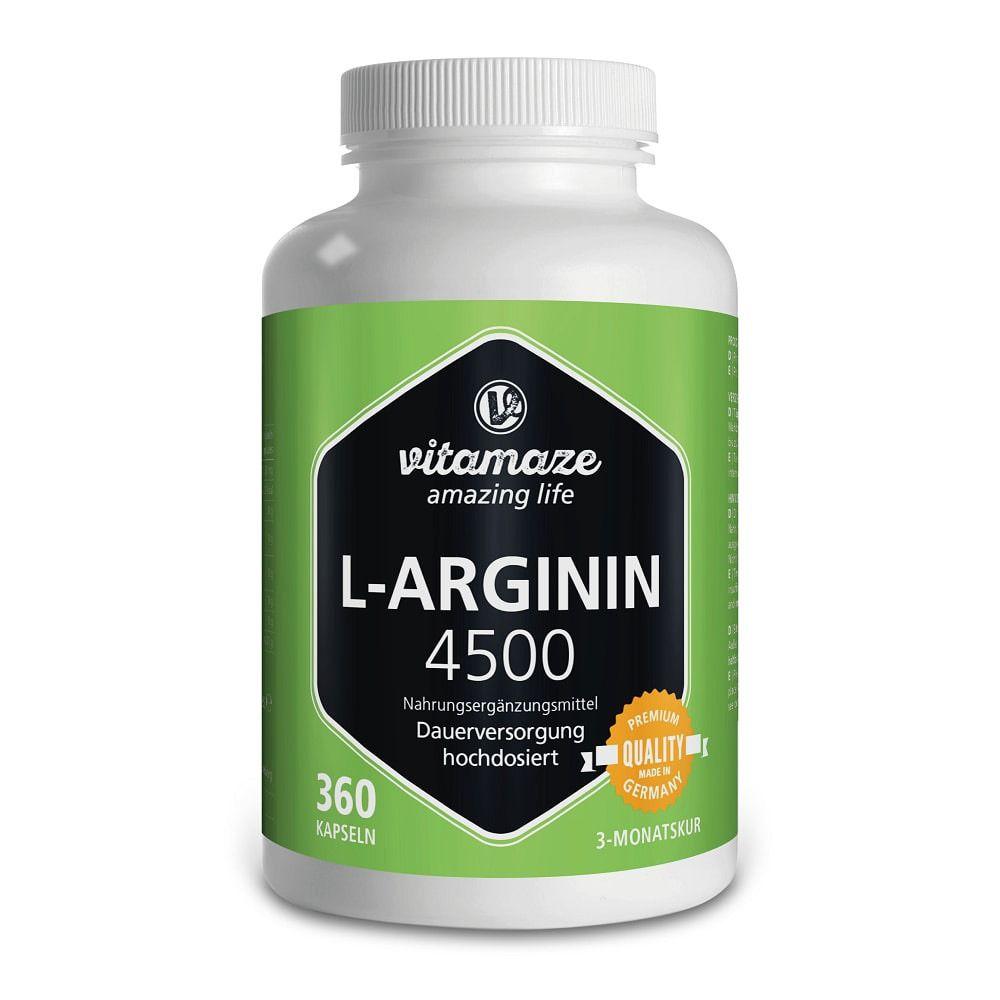 Vitamaze L-Arginina ad Alto Dosaggio 4500 mg 360 pz Capsule