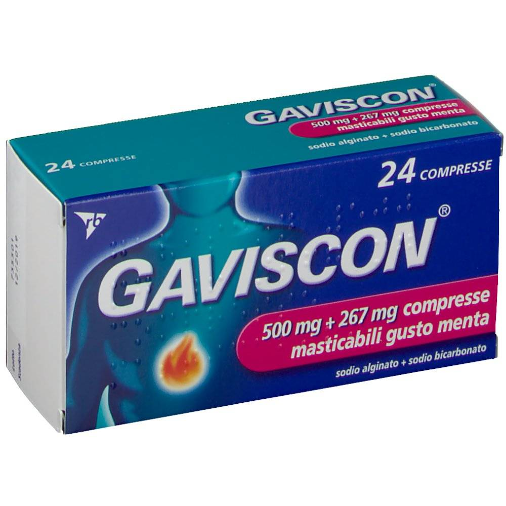 Reckitt Benckiser H.(It.) SpA GAVISCON® 500+267 mg Compresse Masticabili Menta 24