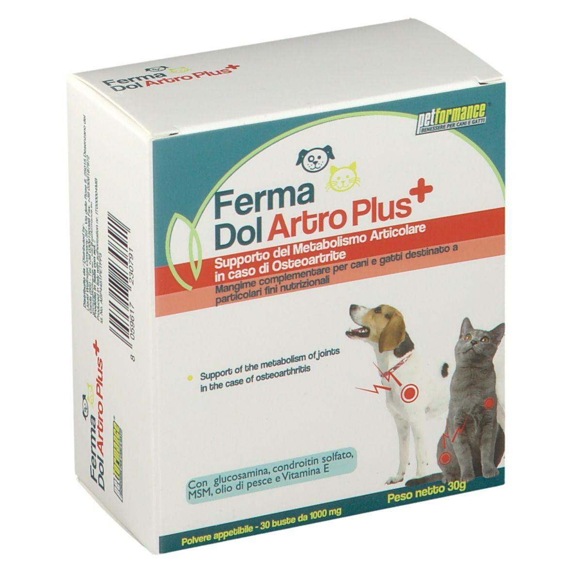 Liquid Wellness Company Srl PetformanceFermaDol Artro Plus 30 g polvere per la preparazione di u