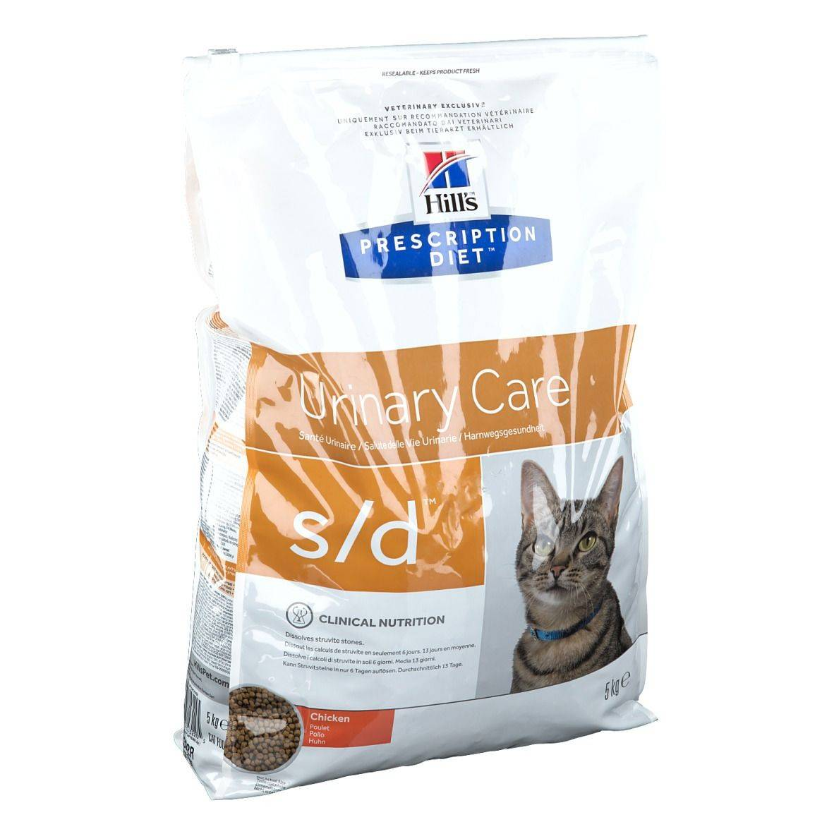Hill's  Prescription Diet s/d Alimento per Gatti al Pollo 5 kg Impianti