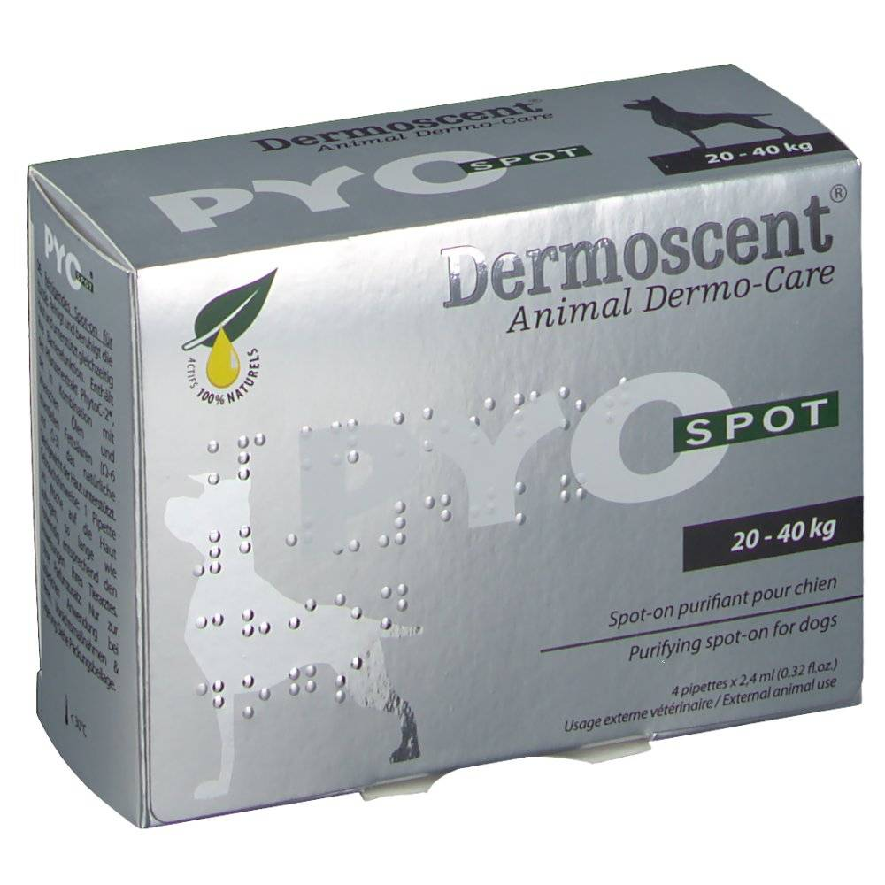 V.m.d. PYO Dermoscent Animal Dermo-Care SPOT 20-40 kg 4 3760098110346