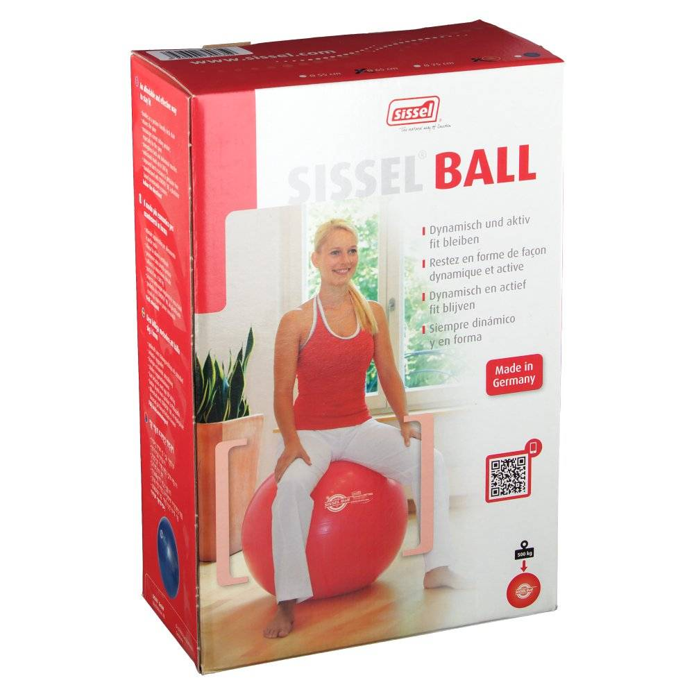 Sissel Benelux Sissel Ball Sitting Ball 65cm Red 1 4250694700359