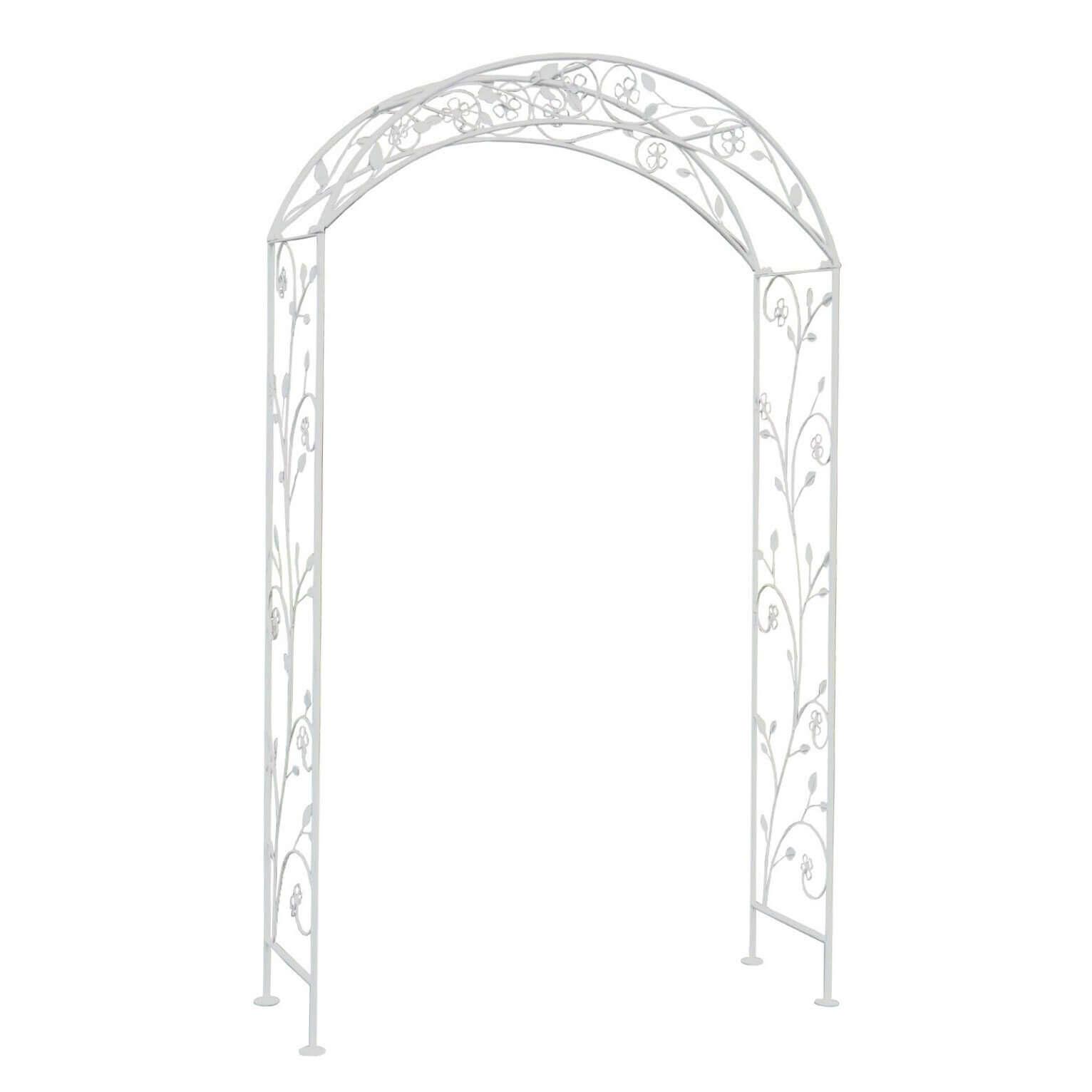 milani home arco da giardino per rampicanti stile provenzale in ferro verniciato