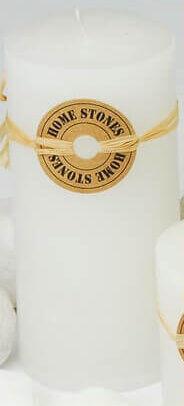 Milani Home BLANC - candela cilindrica profumata 14 cm