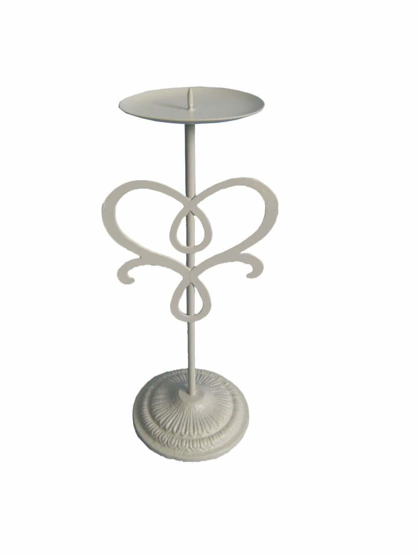 Milani Home porta candela stile provenzale in ferro verniciato