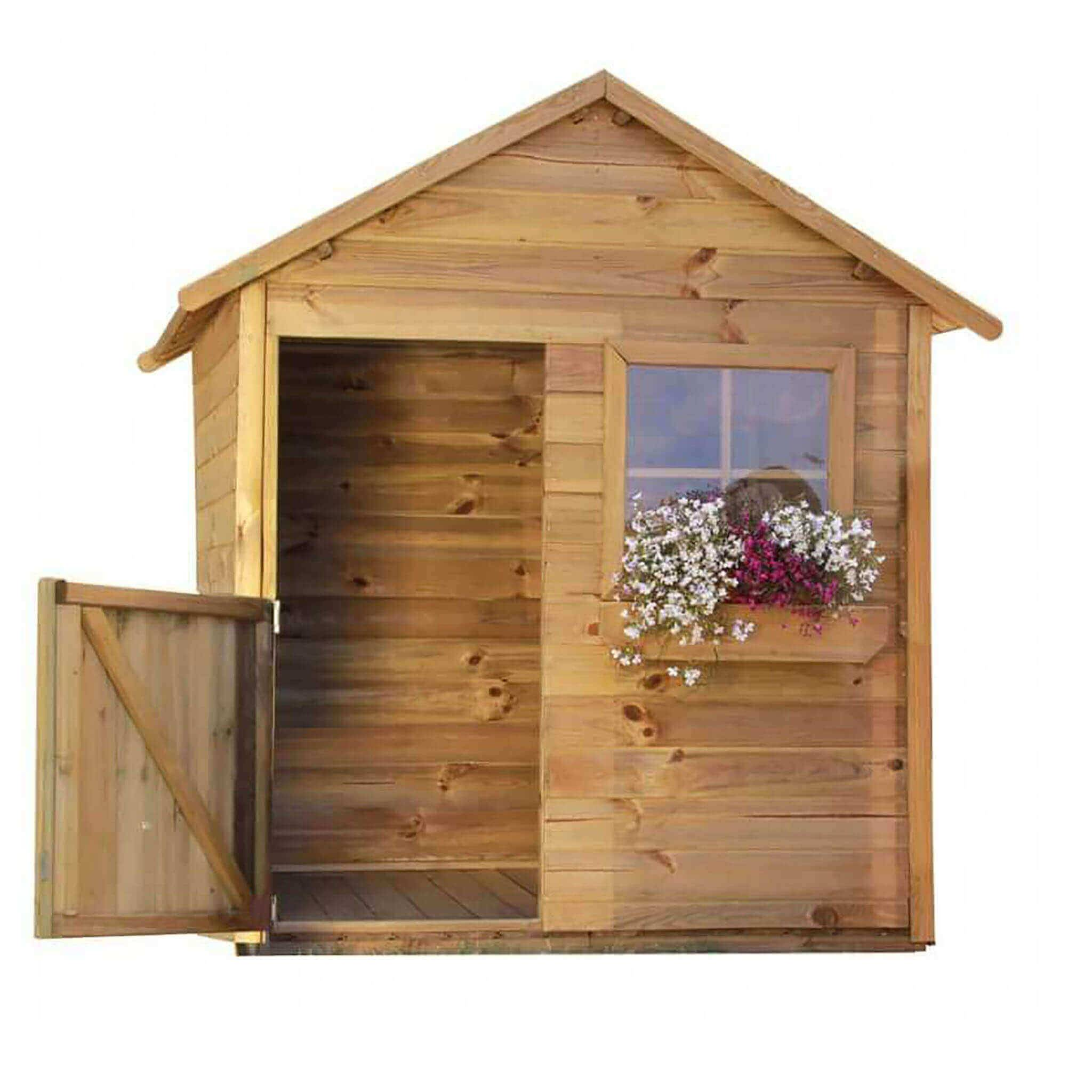 milani home trilli - casetta in legno per bambini