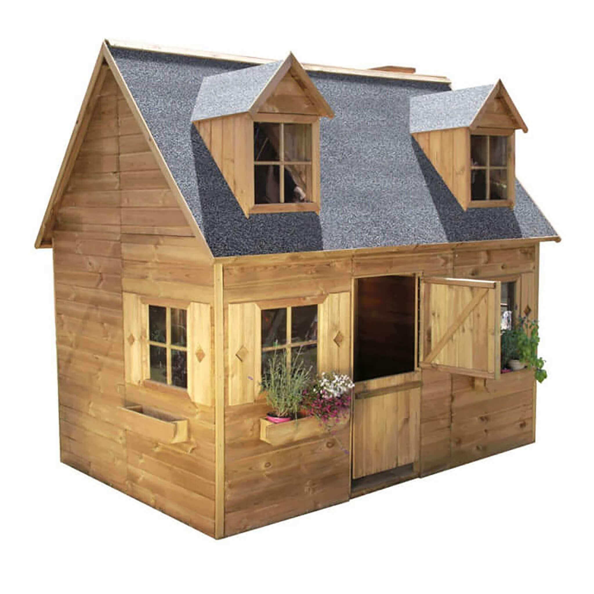 milani home desy - casetta in legno per bambini