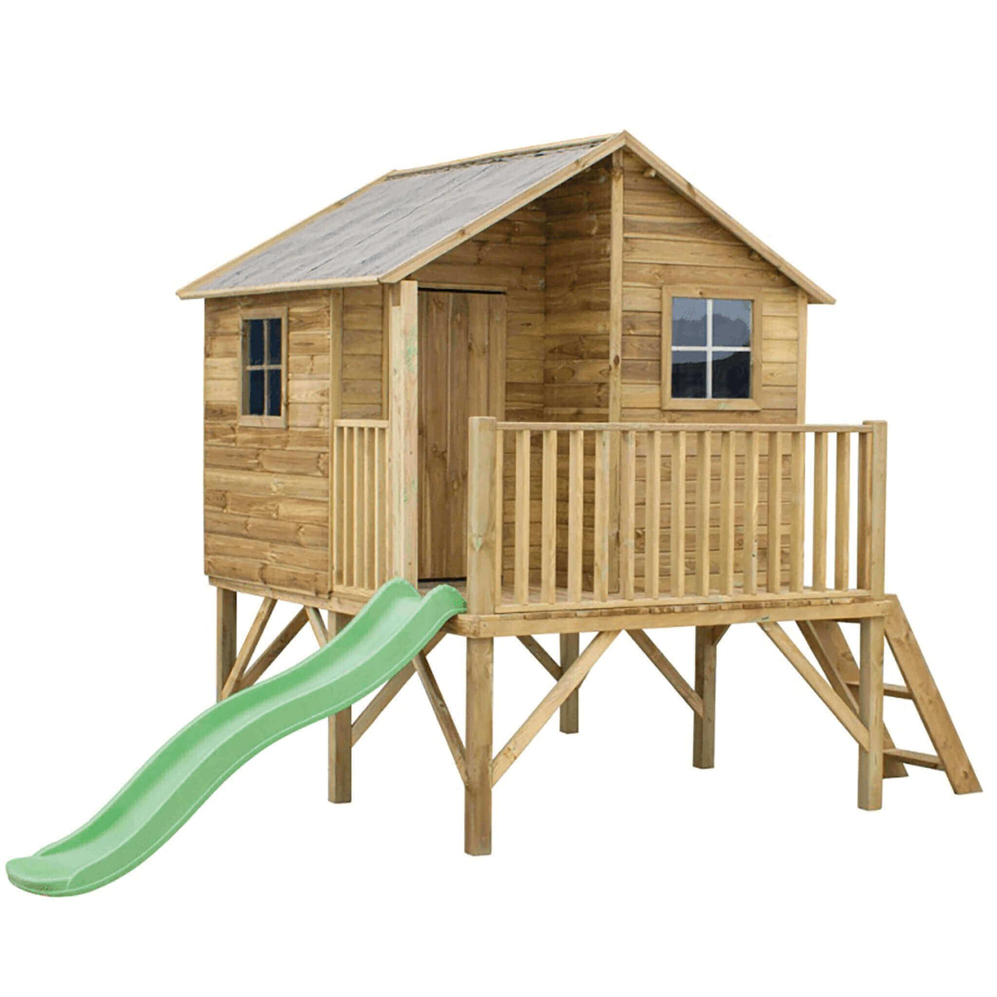 Milani Home YOYO - casetta in legno per bambini con scivolo