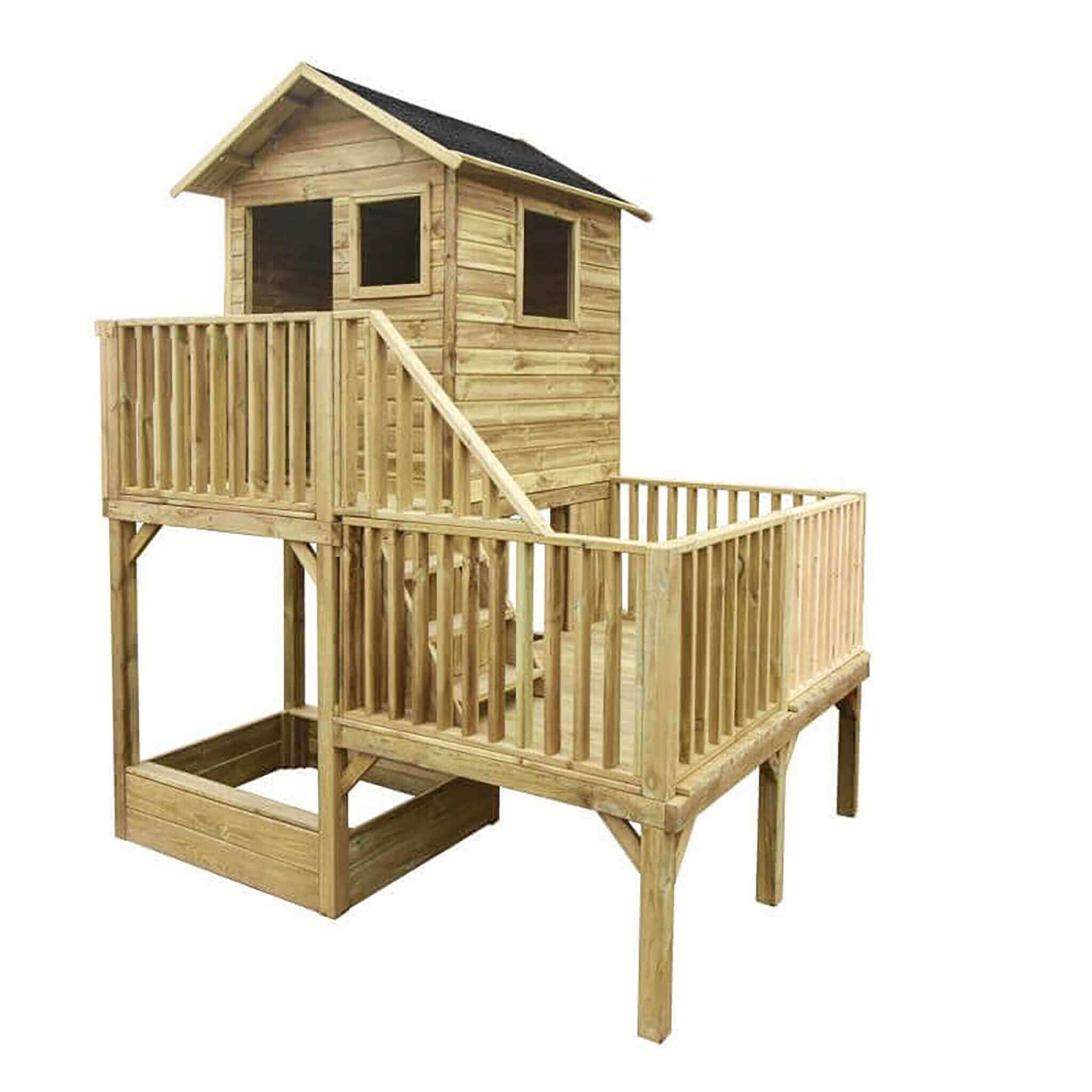 milani home jeje - casetta in legno per bambini