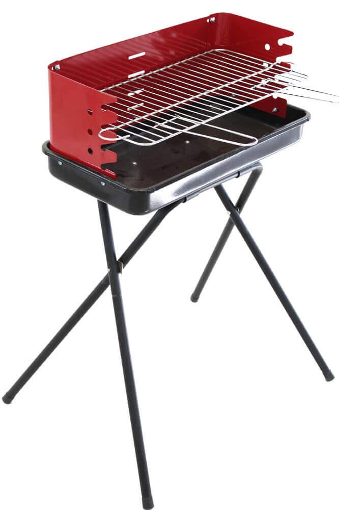 Milani Home Barbecue a carbonella da campeggio con griglia
