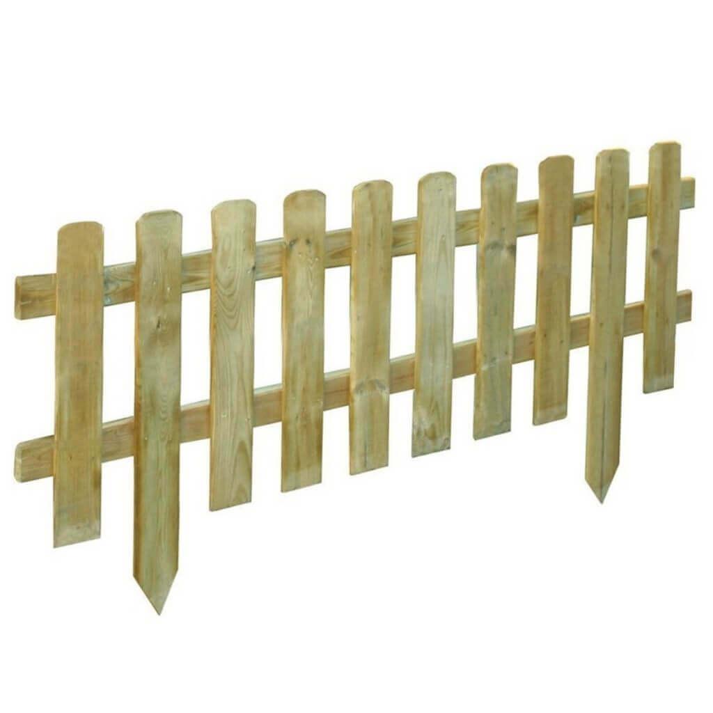 Milani Home Recinto inglese da giardino in legno di pino impregnato in autoclave 110x3,2x28/45