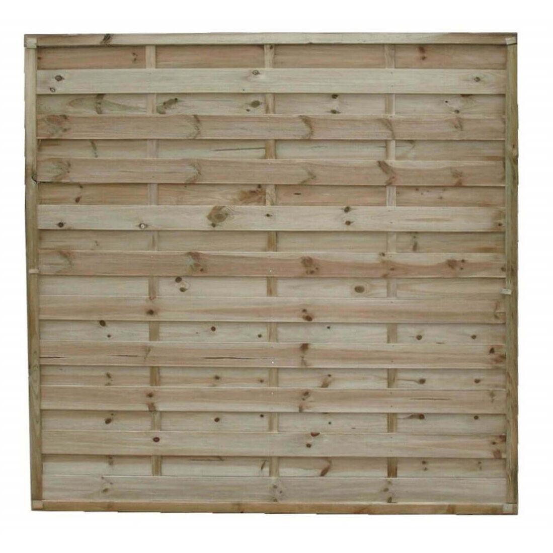 Milani Home frangivento da giardino in legno di pino impregnato in autoclave 180 x 180