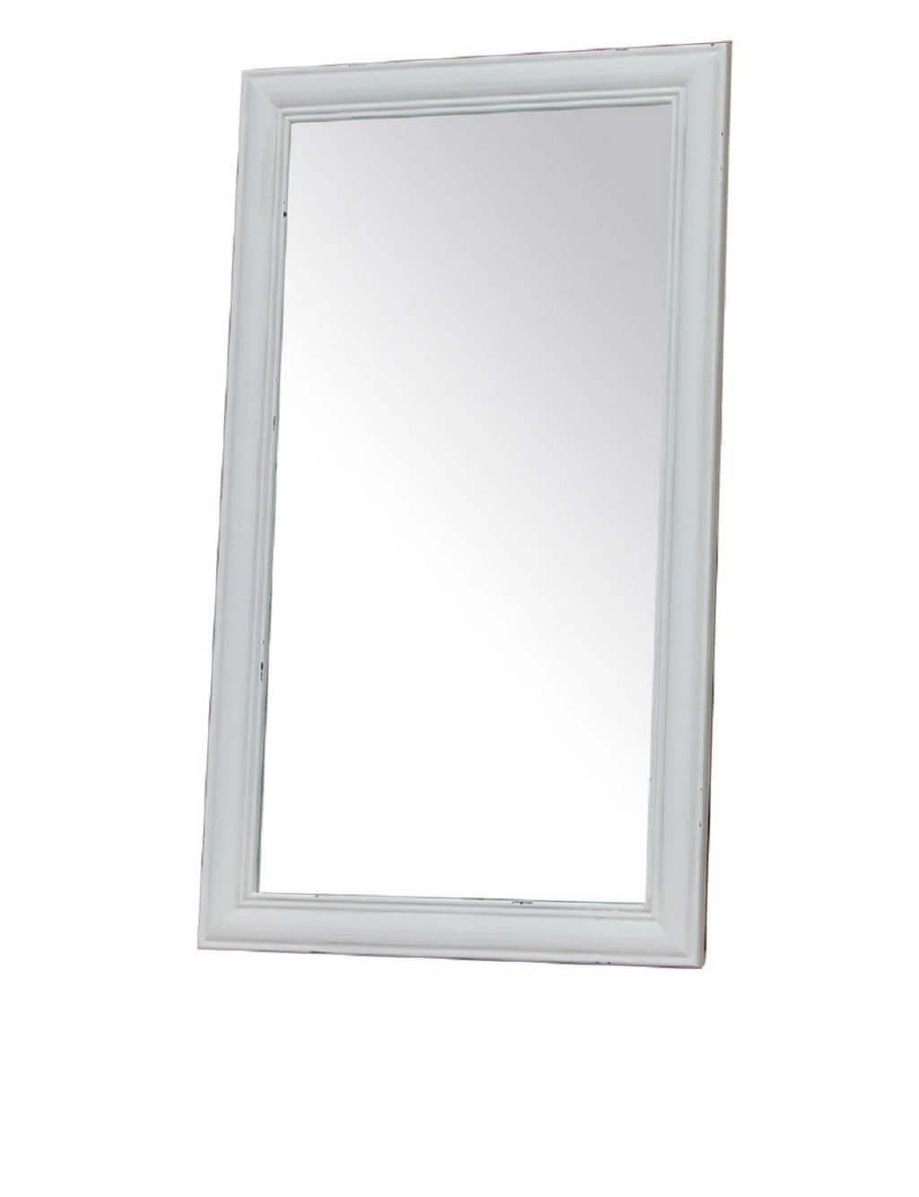 Milani Home specchio in legno di paulownia shabby chic 50 x 85