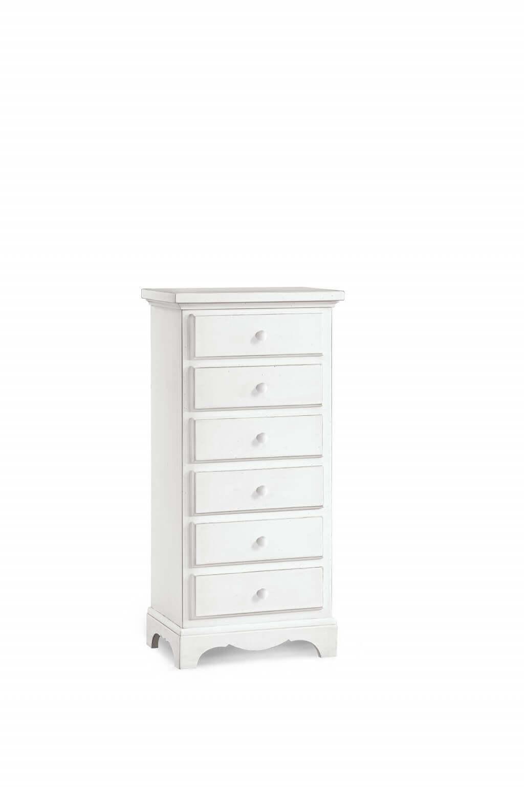Milani Home BRIDGET - mobiletto 6 cassetti in legno massello 50x35x105