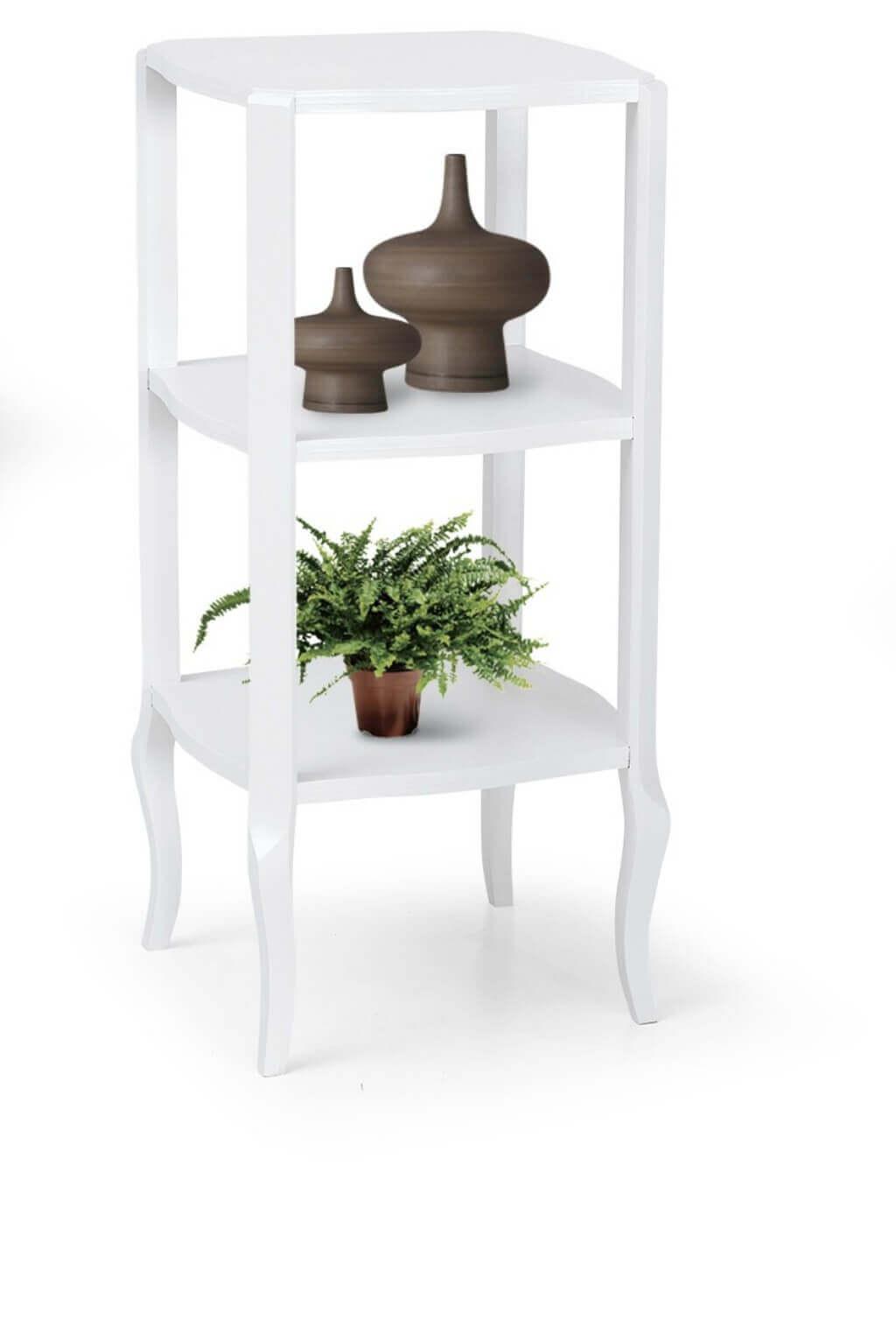 Milani Home DOROTHY - mobiletto in legno massello 36x36x79