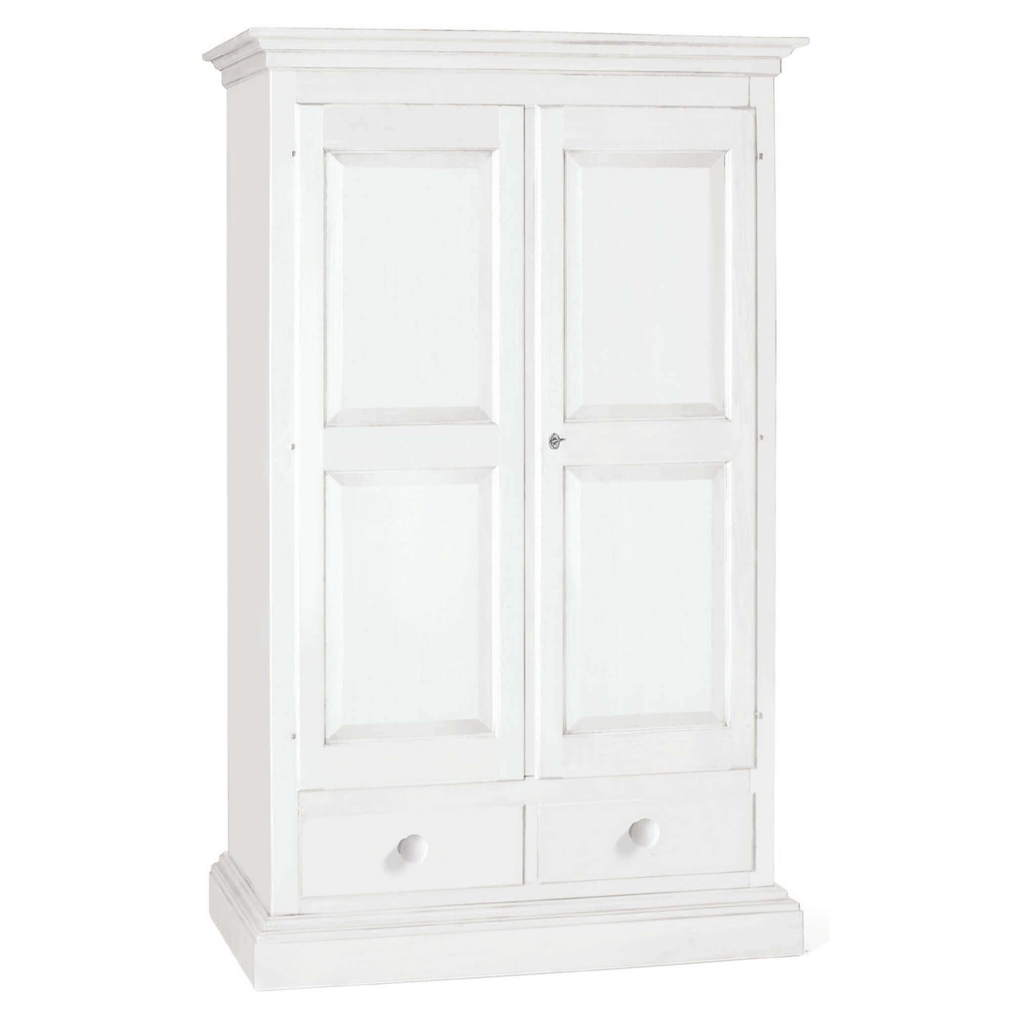 Milani Home CHESTER - armadio 2 ante in legno massello 125 x 61 x 200
