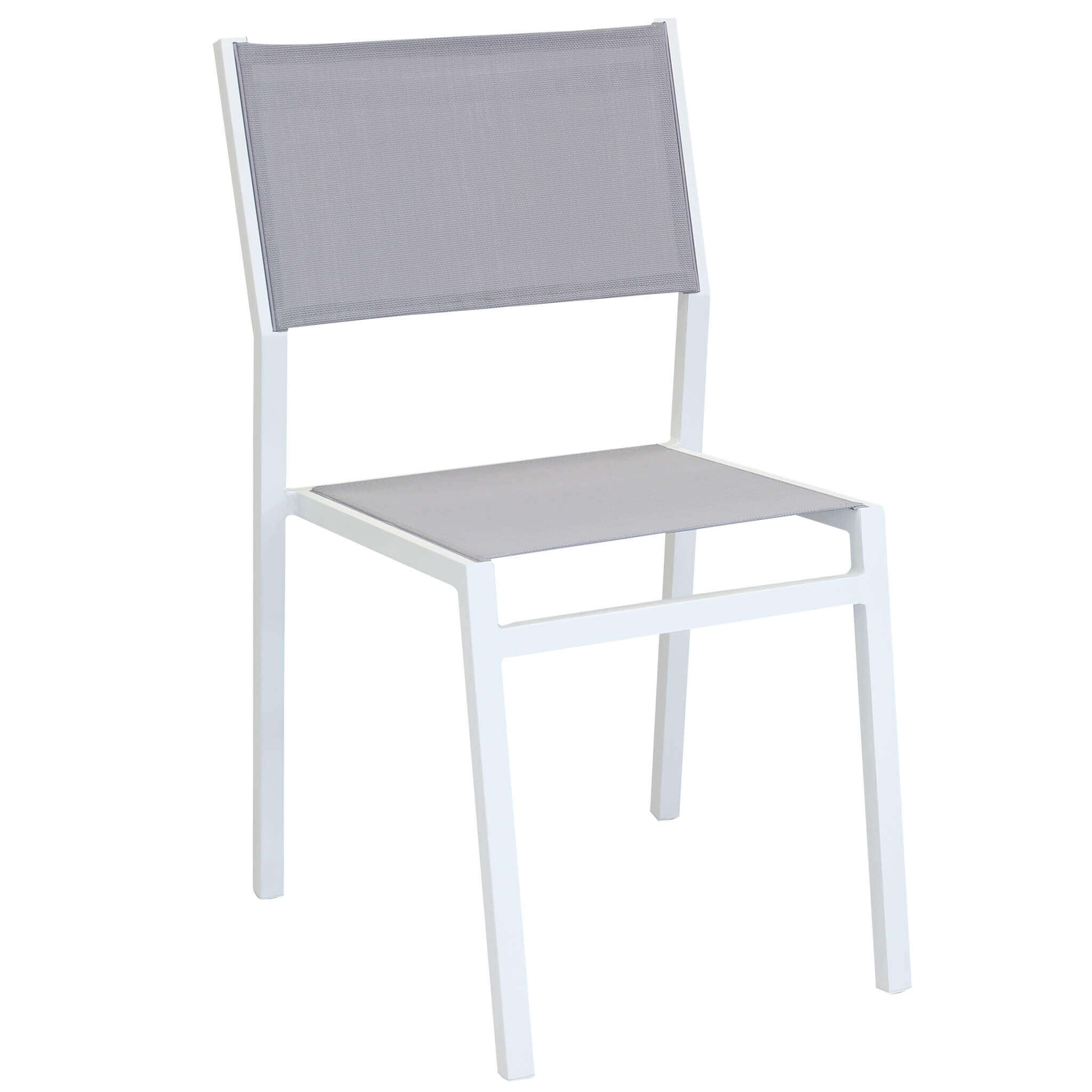 milani home aulus - sedia da giardino in alluminio e textilene impilabile