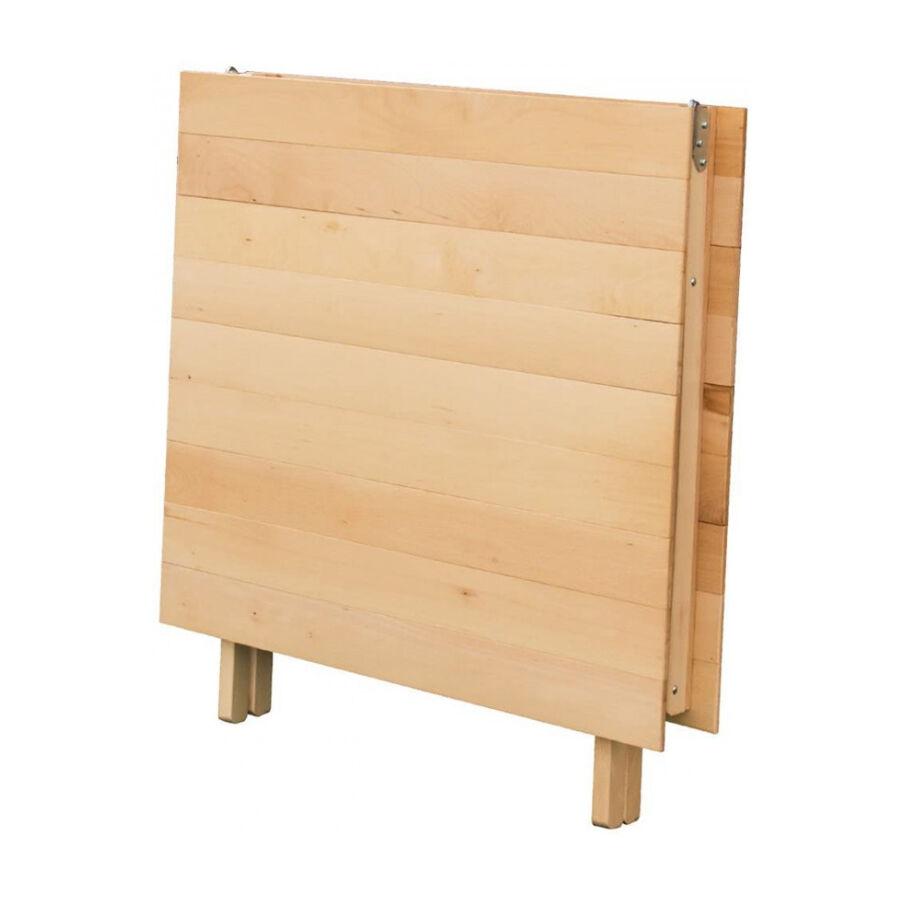 milani home tavolo da giardino pieghevole salvaspazio in legno 70x140