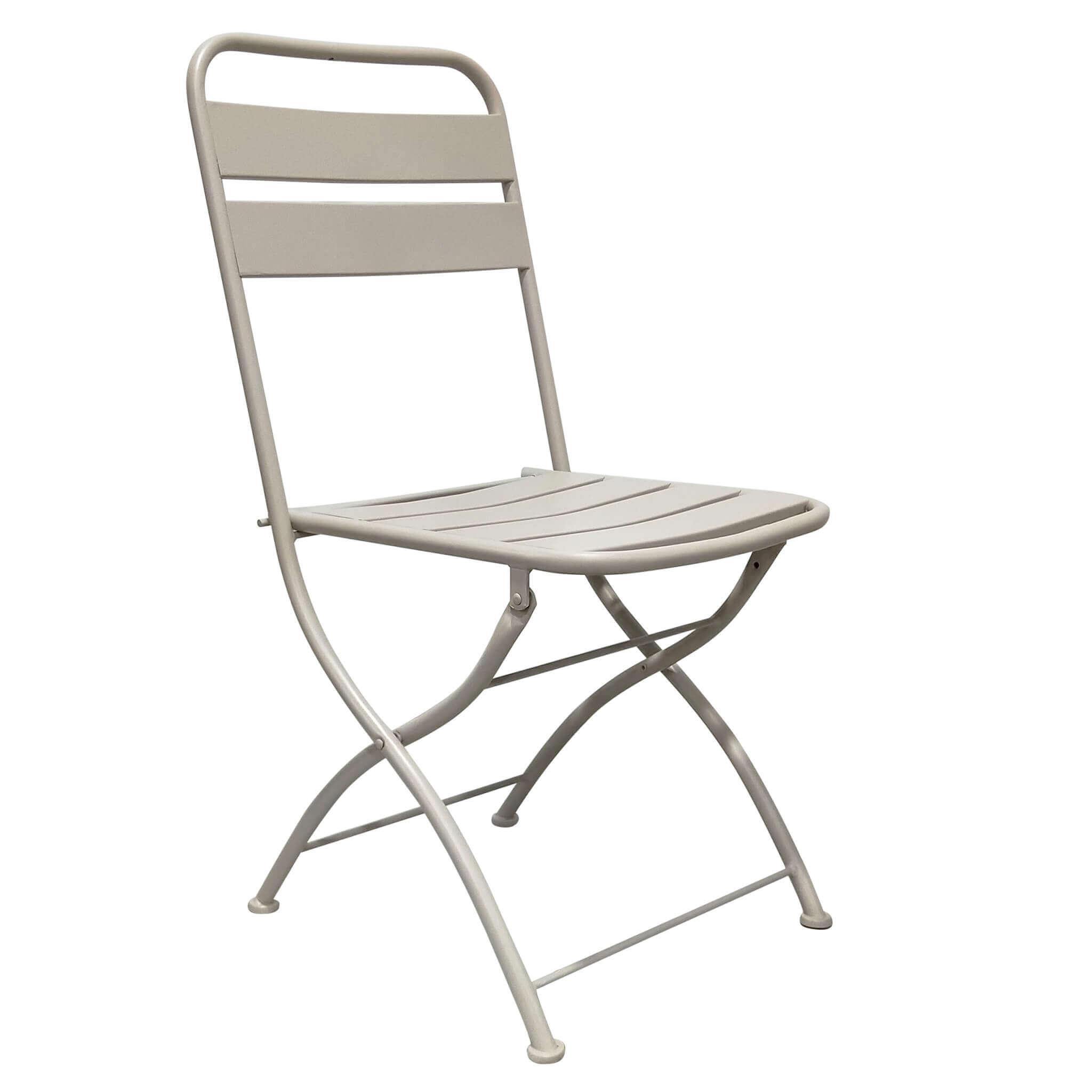 milani home romanus - sedia da giardino pieghevole salvaspazio in ferro cm 42x50x88 h