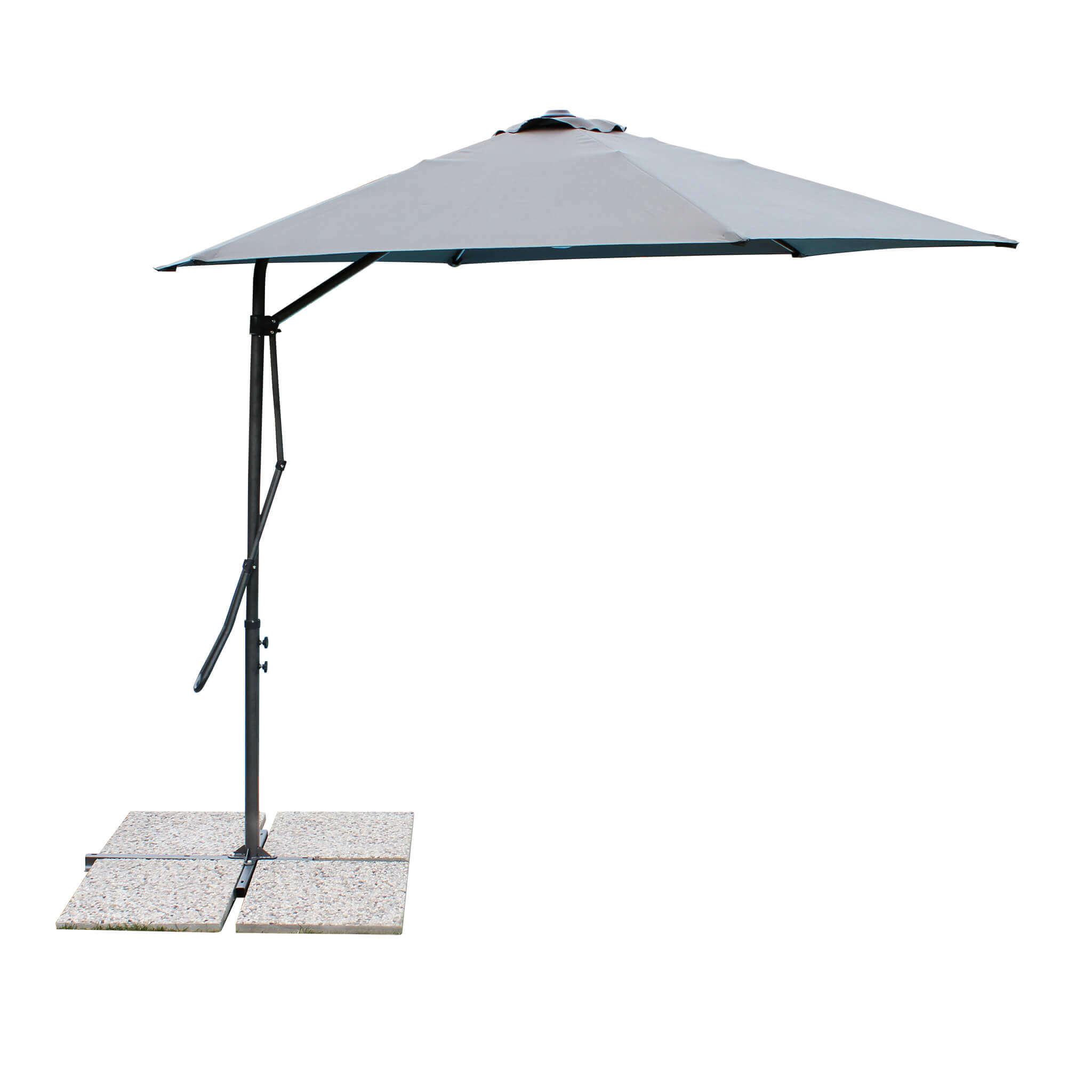 milani home versus - ombrellone da giardino tondo 3 decentrato