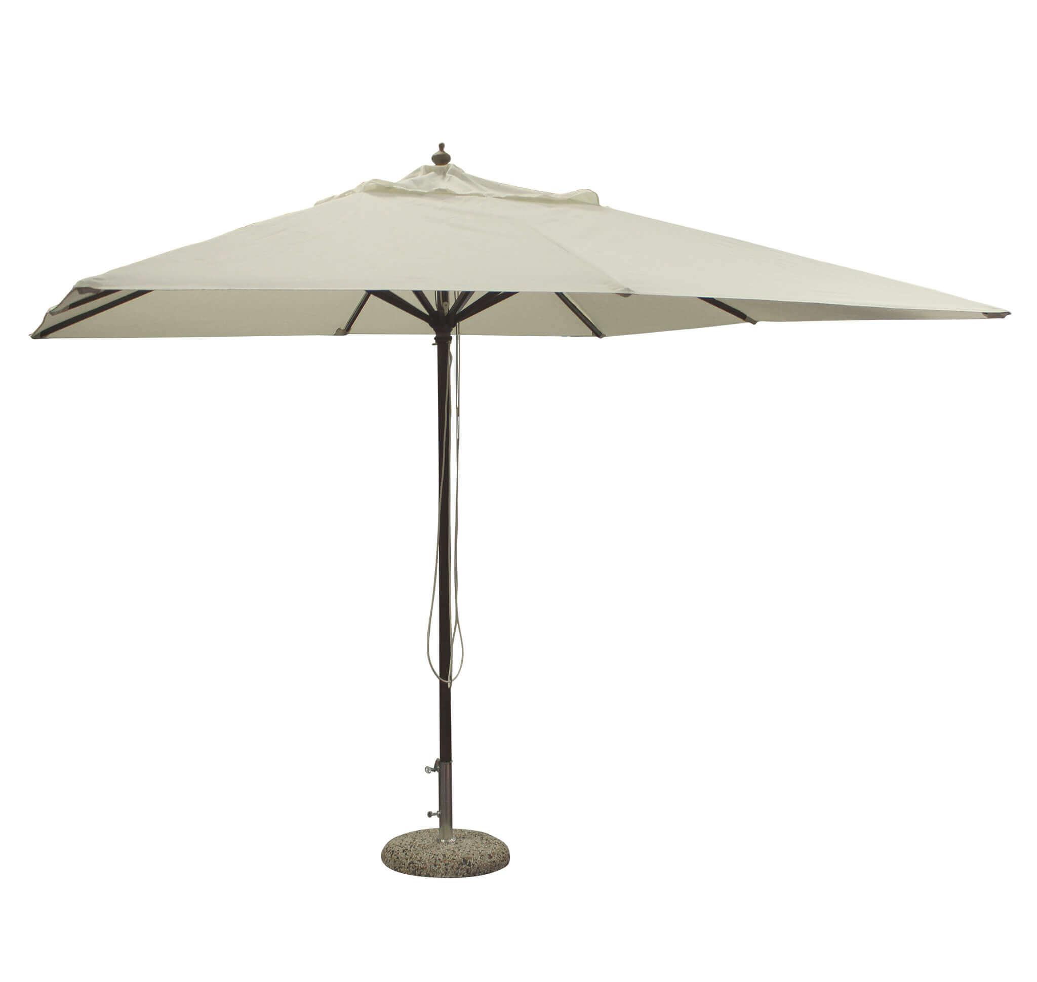 milani home status - ombrellone da giardino 3x3 palo centrale in legno
