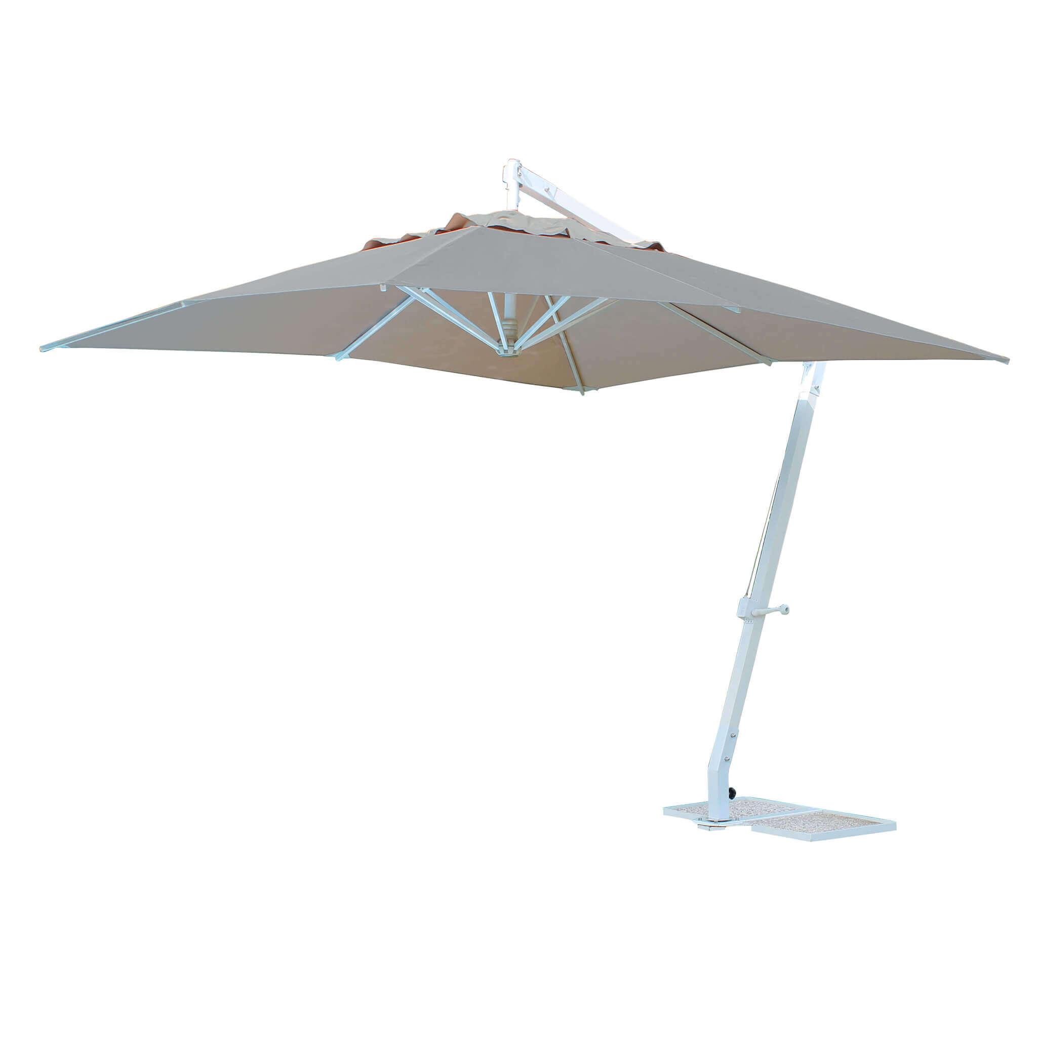 milani home thema - ombrellone da giardino decentrato 3x4 in alluminio
