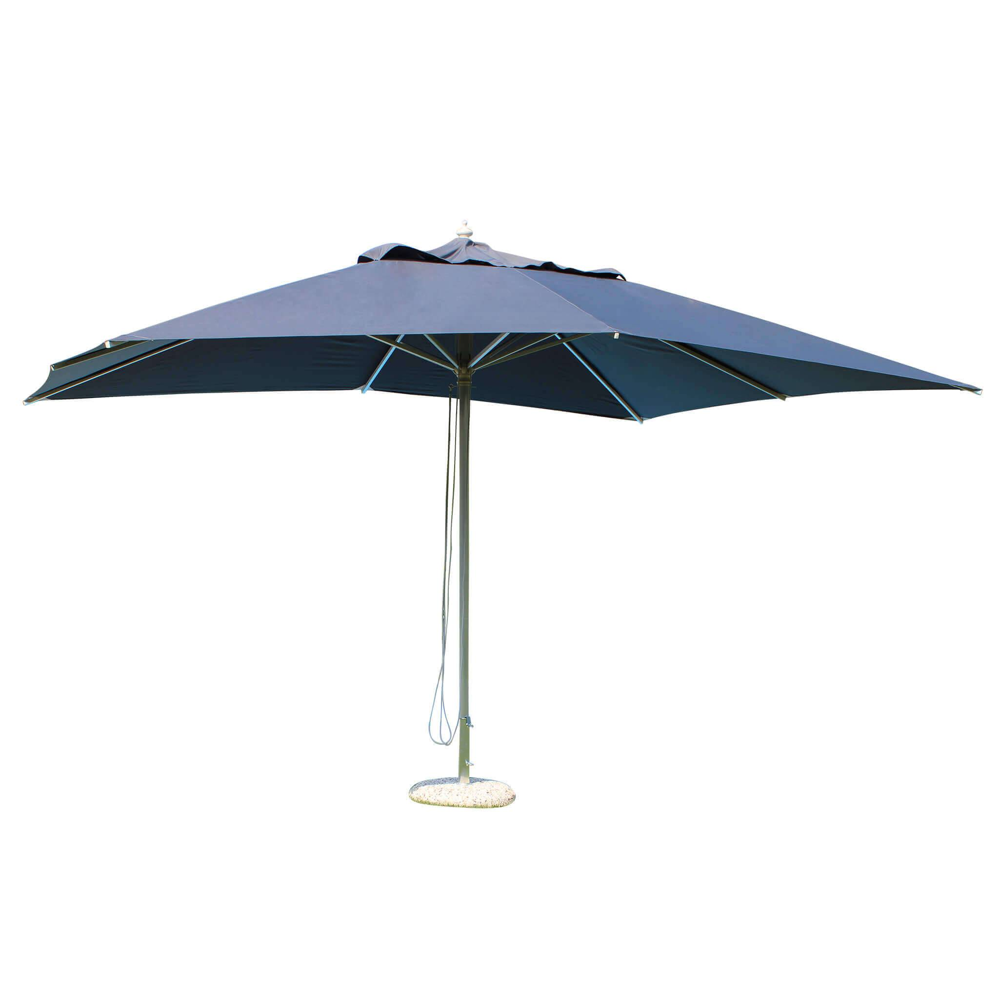 milani home acis - ombrellone da giardino 3x4 palo centrale in alluminio