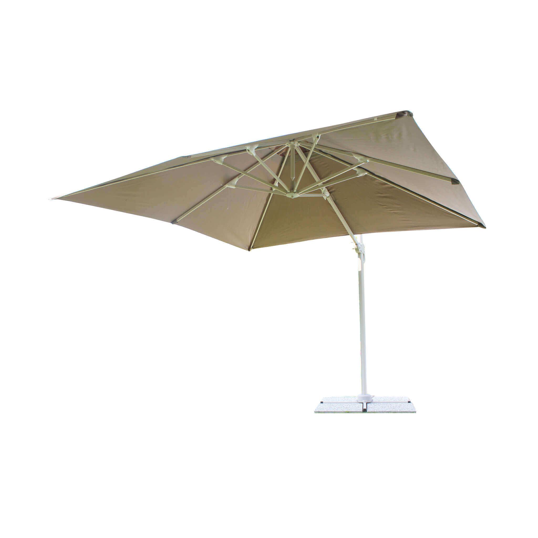 milani home bactrus - ombrellone da giardino decentrato 3x4 in alluminio