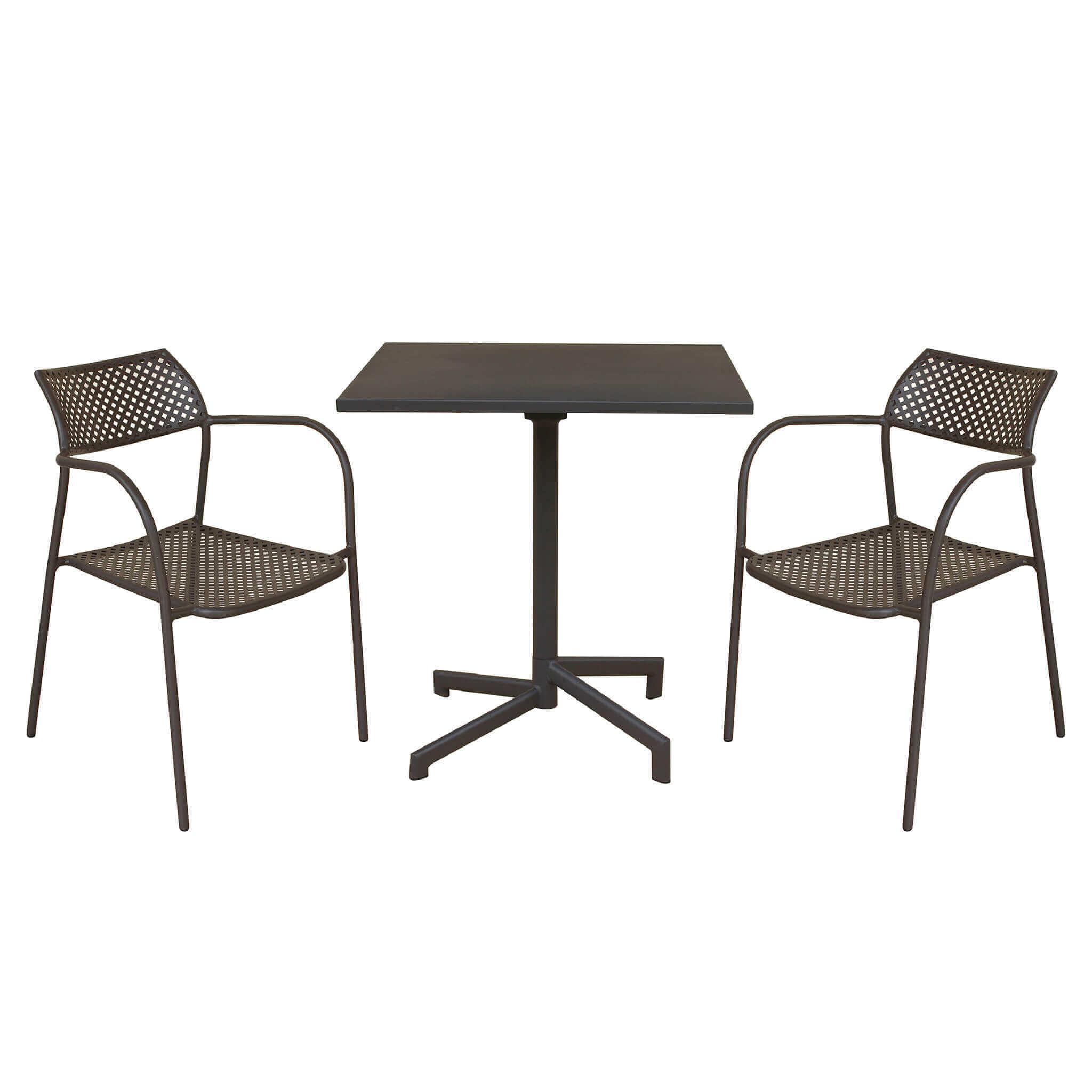 Milani Home OPERA - set tavolo in metallo 9,0 con 2 sedute
