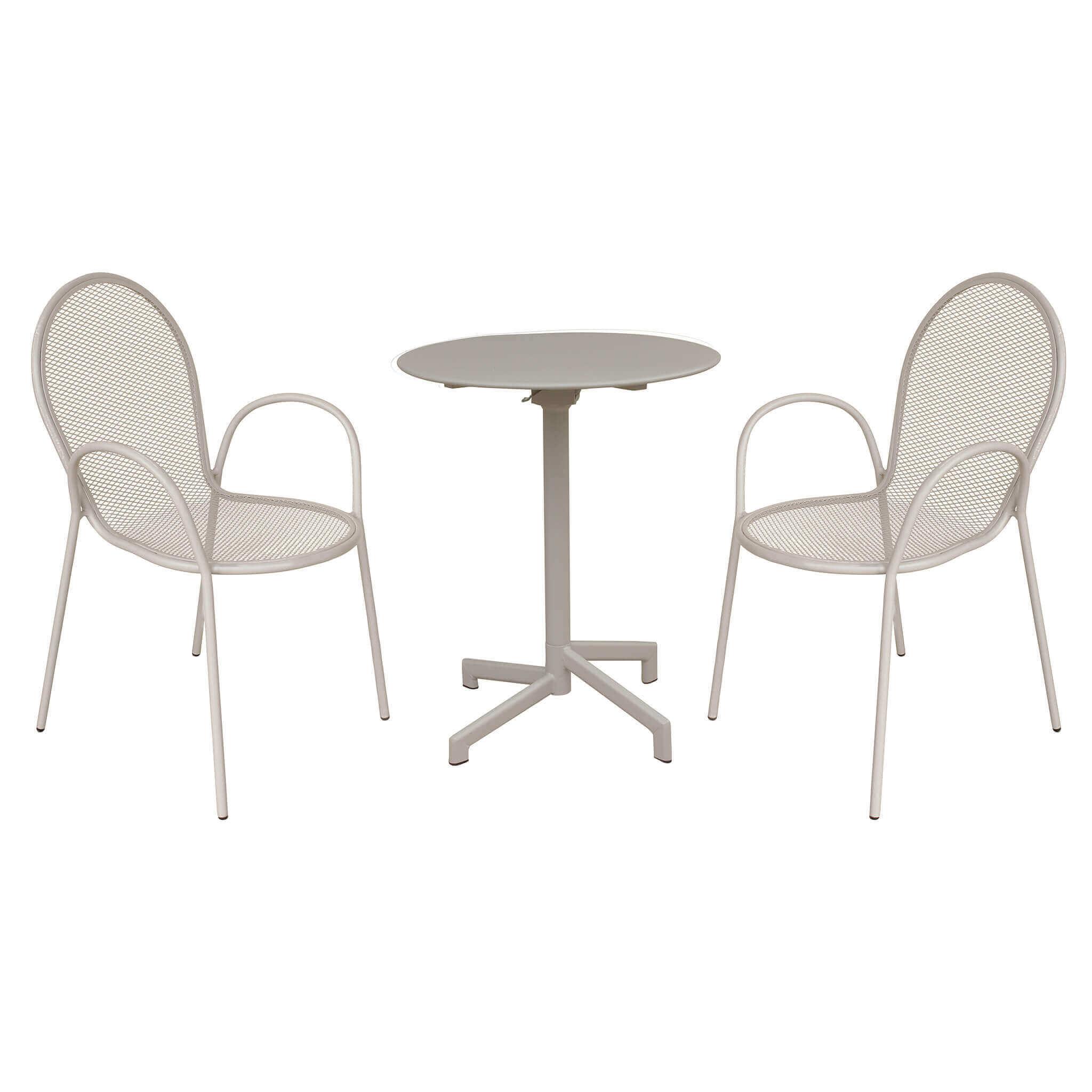 Milani Home OPERA - tavolo da giardino in metallo diametro 60