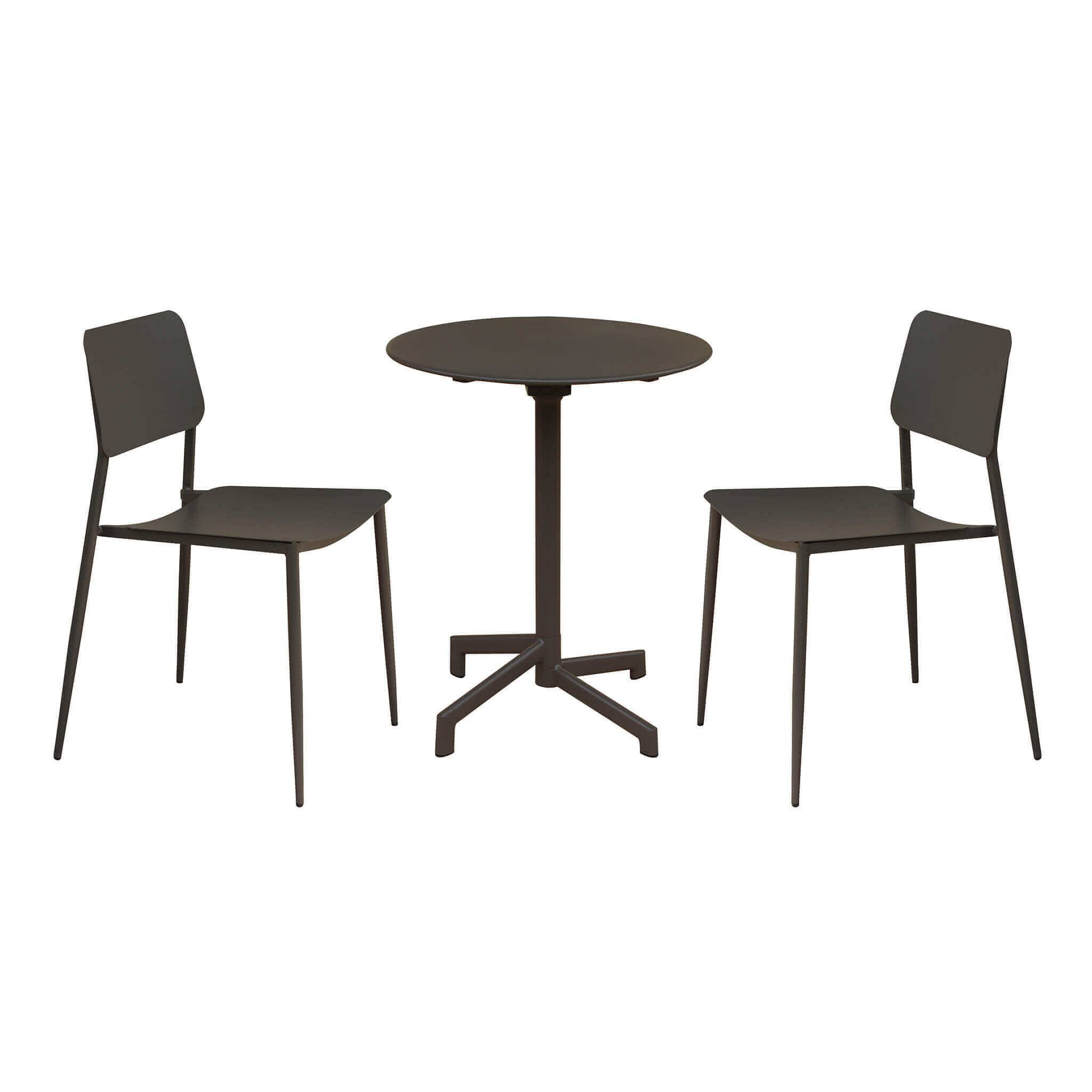 Milani Home OPERA - set tavolo in metallo 7,2 con 2 sedute
