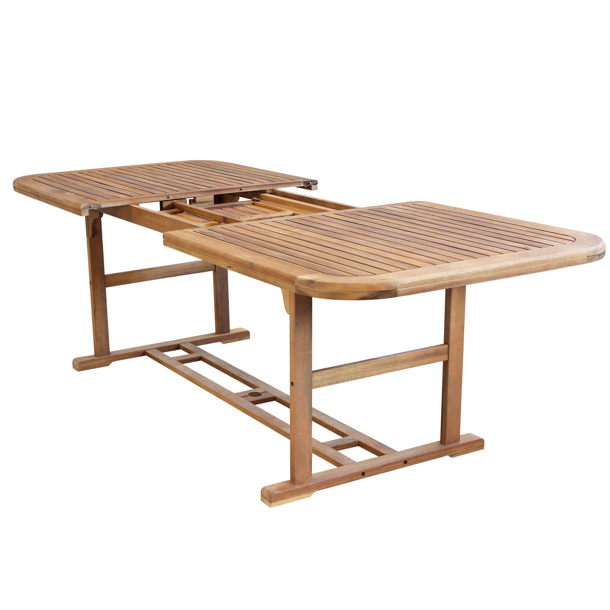 Milani Home TURRIS - tavolo da giardino allungabile in legno massiccio di acacia 180/240 x 100