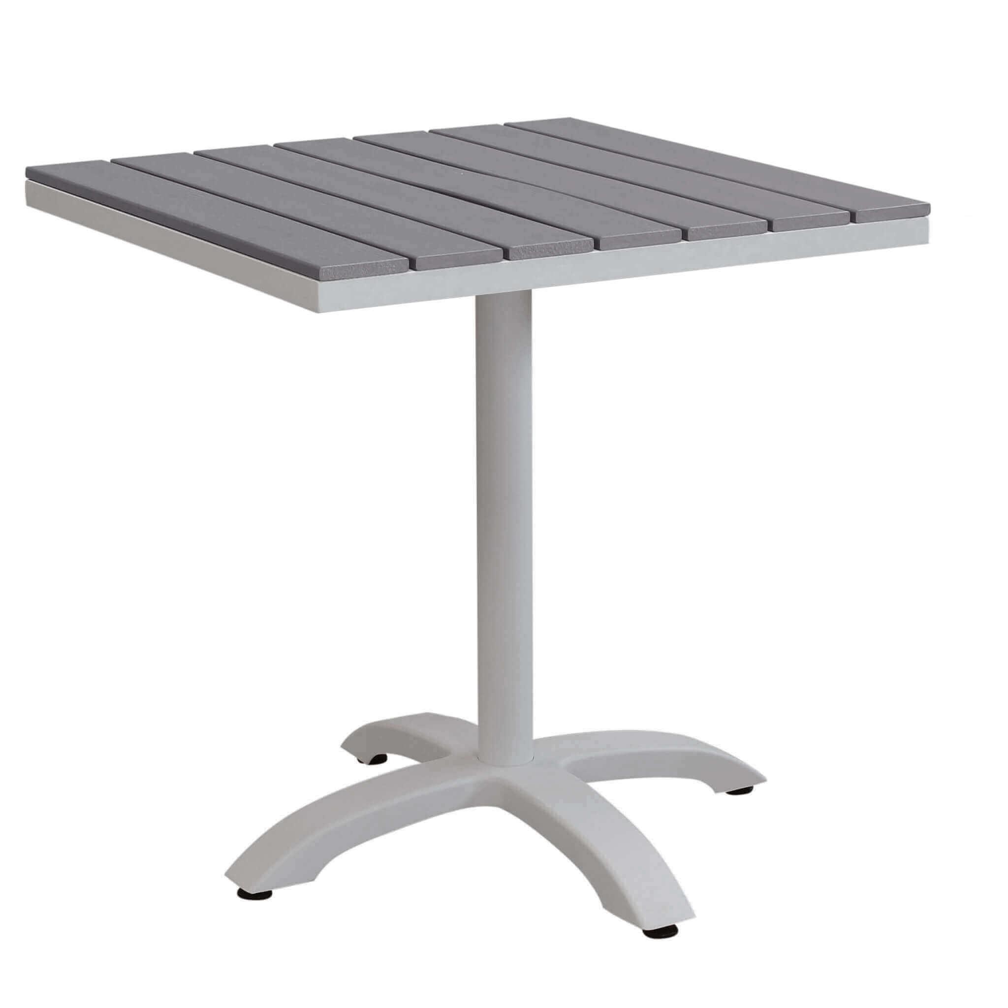 Milani Home XANTHUS - tavolo da giardino in alluminio e polywood 70 x 70