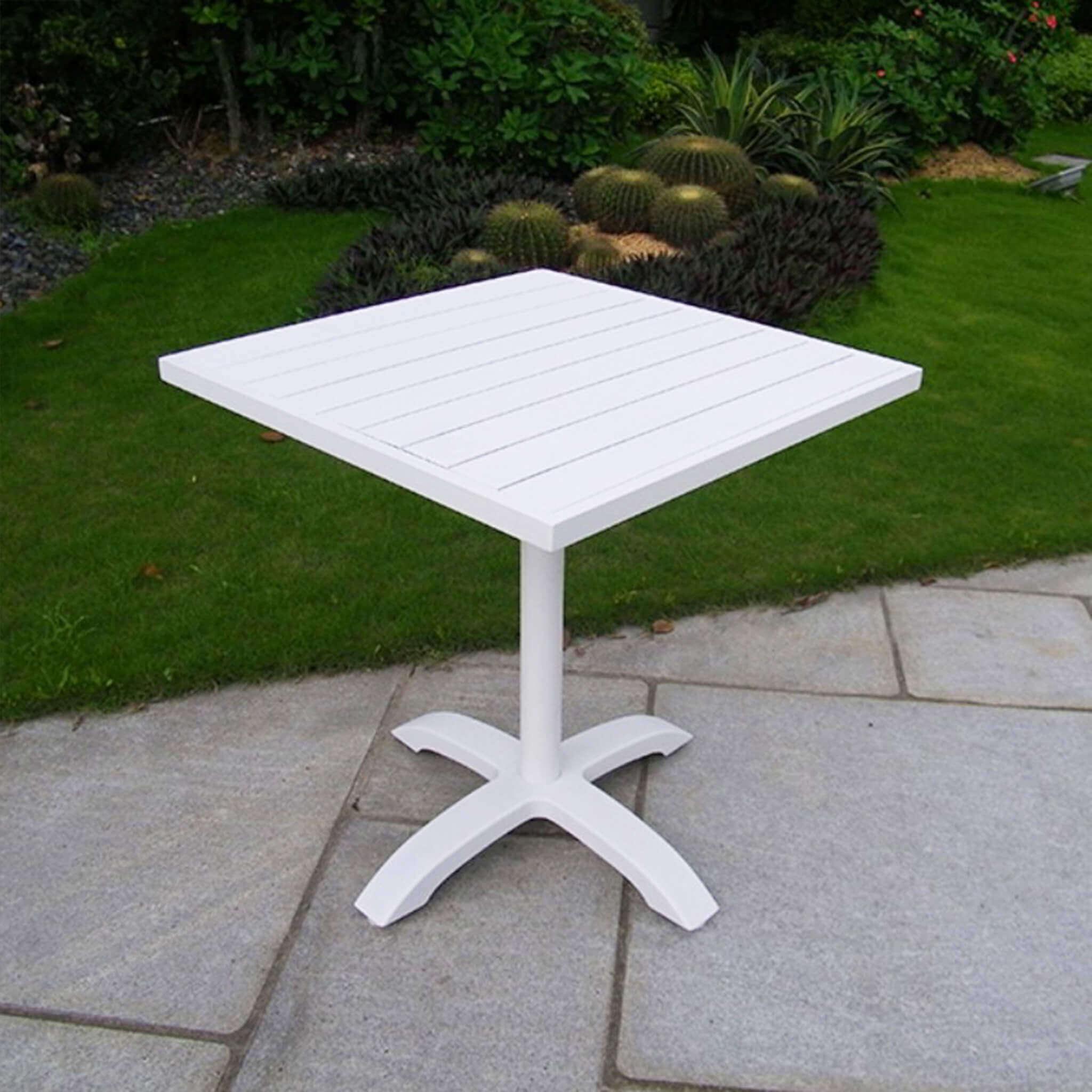 Milani Home AULUS - tavolo da giardino in alluminio 70 x 70