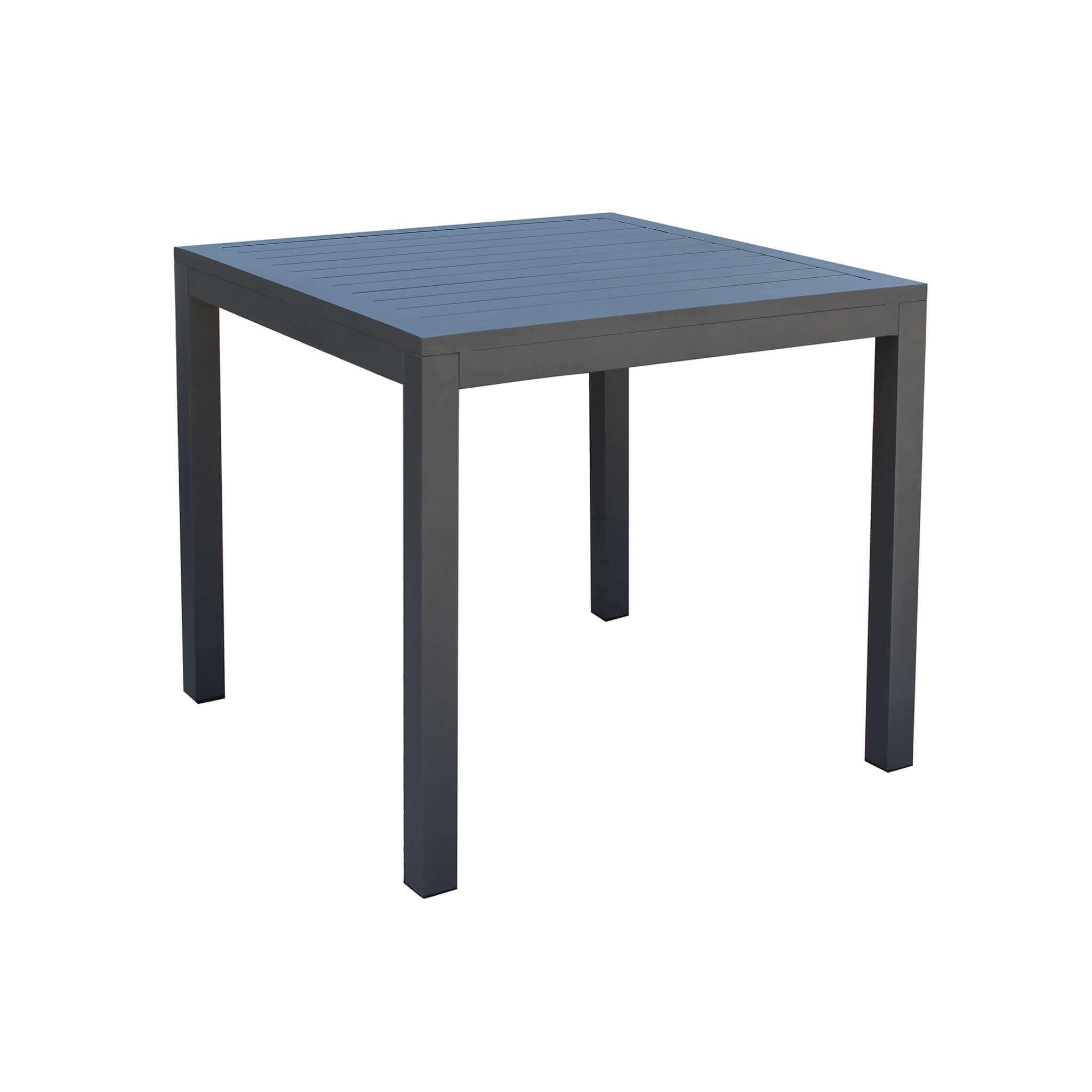 Milani Home ARGENTUM - tavolo da giardino in alluminio 80 x 80