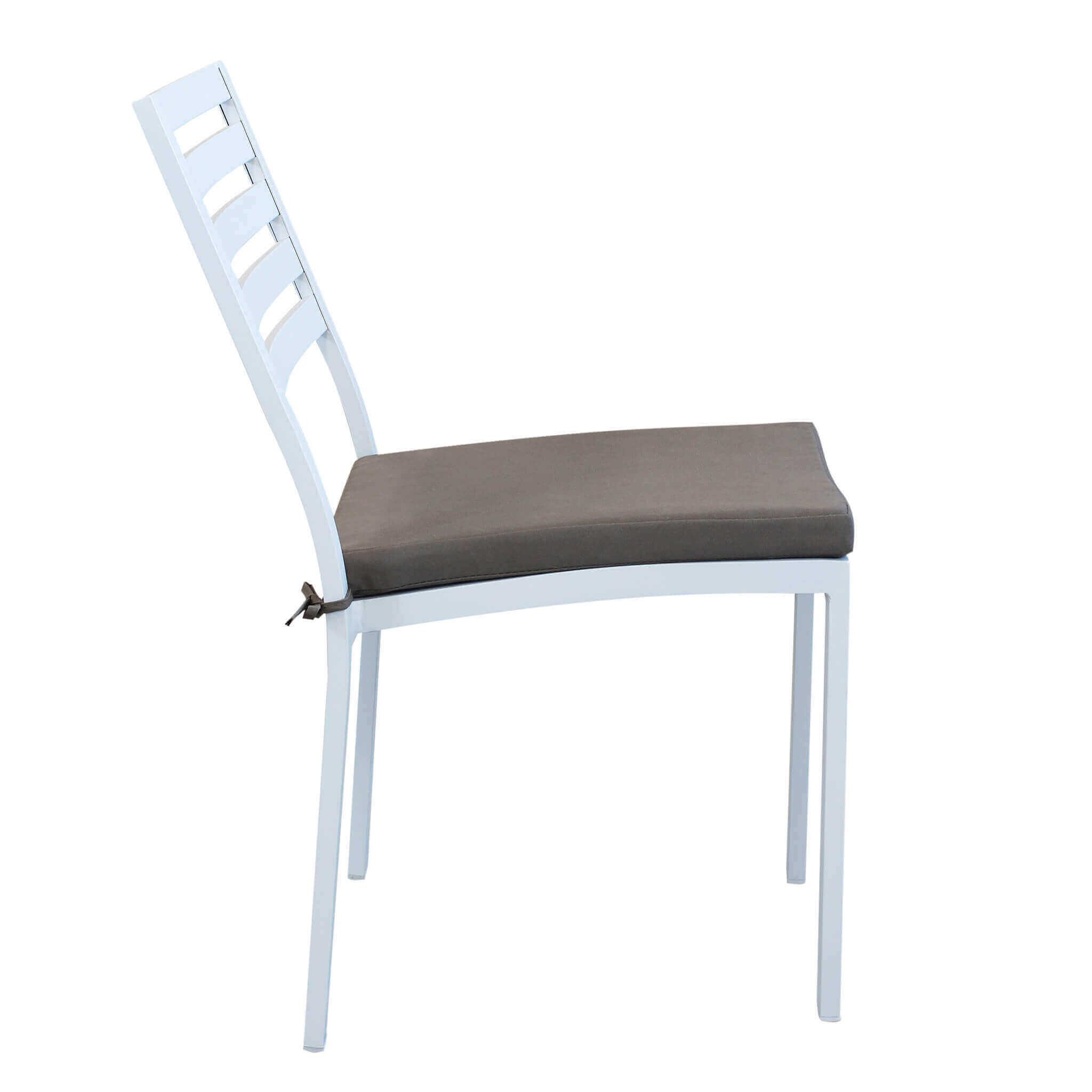 Milani Home DEXTER - sedia da giardino in alluminio impilabile completa di cuscino