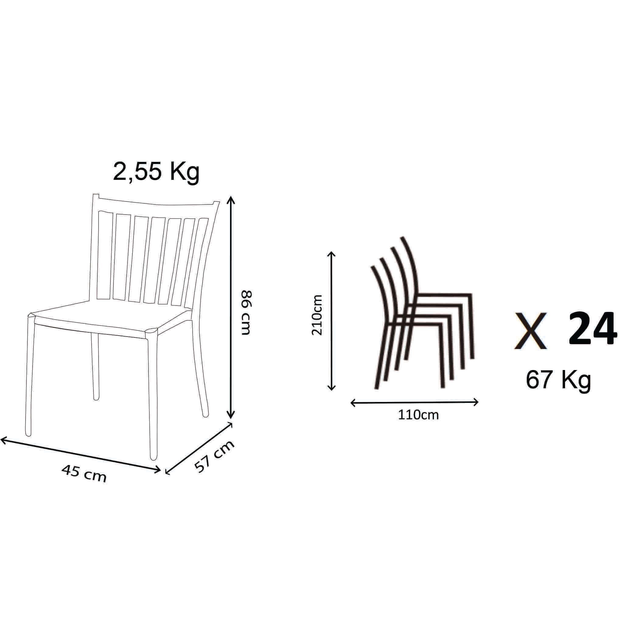 Milani Home GARDENIA - sedia da giardino in alluminio e rattan sintetico impilabile