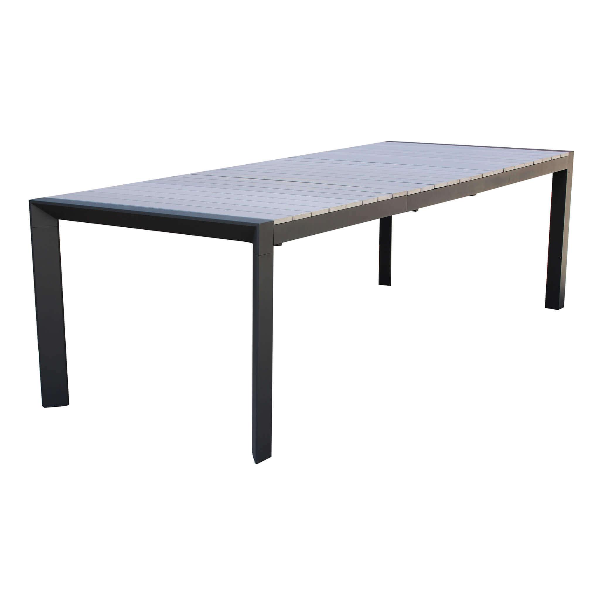 Milani Home LOIS - tavolo da giardino in alluminio 162/242 X 100