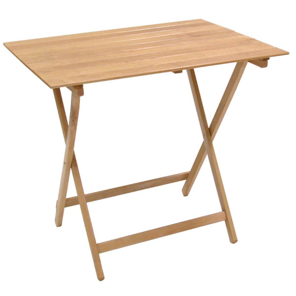 Milani Home PIC-NIC - tavolo da giardino pieghevole salvaspazio in legno 60 x 100