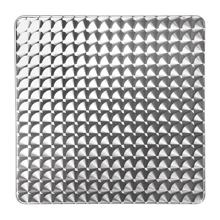 Milani Home tavolo quadrato a colonna in acciaio e alluminio waterproof 70 x 70